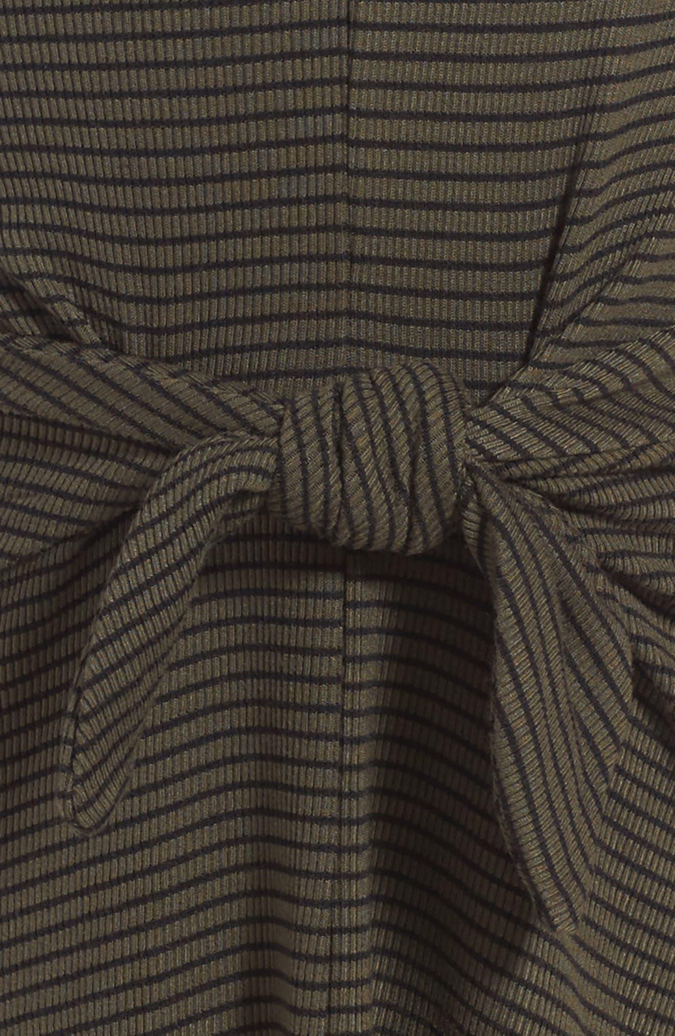Tie Front Stripe Dress,                             Alternate thumbnail 3, color,                             307
