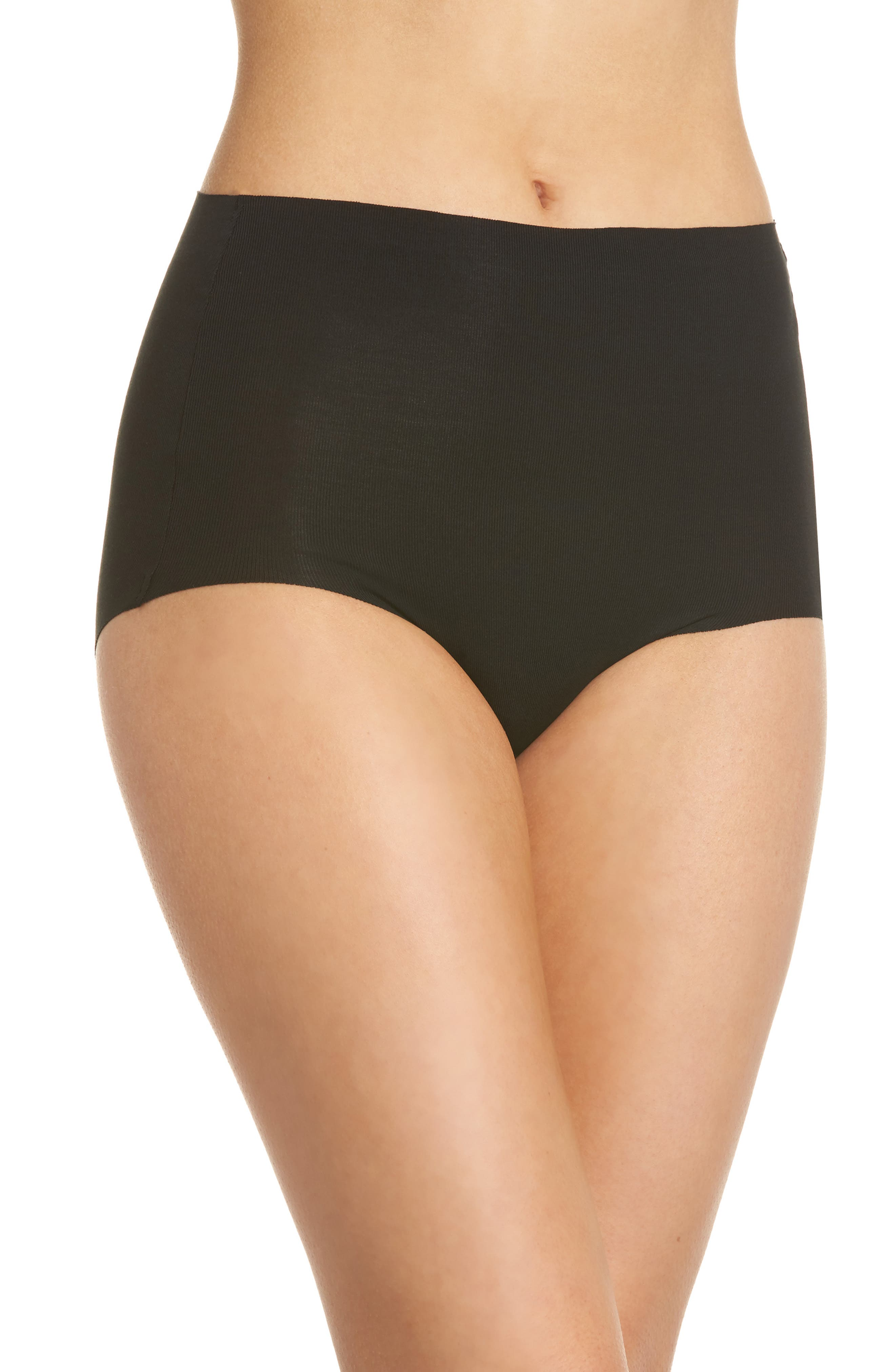 Beyond Naked High Waist Briefs,                             Main thumbnail 1, color,                             BLACK