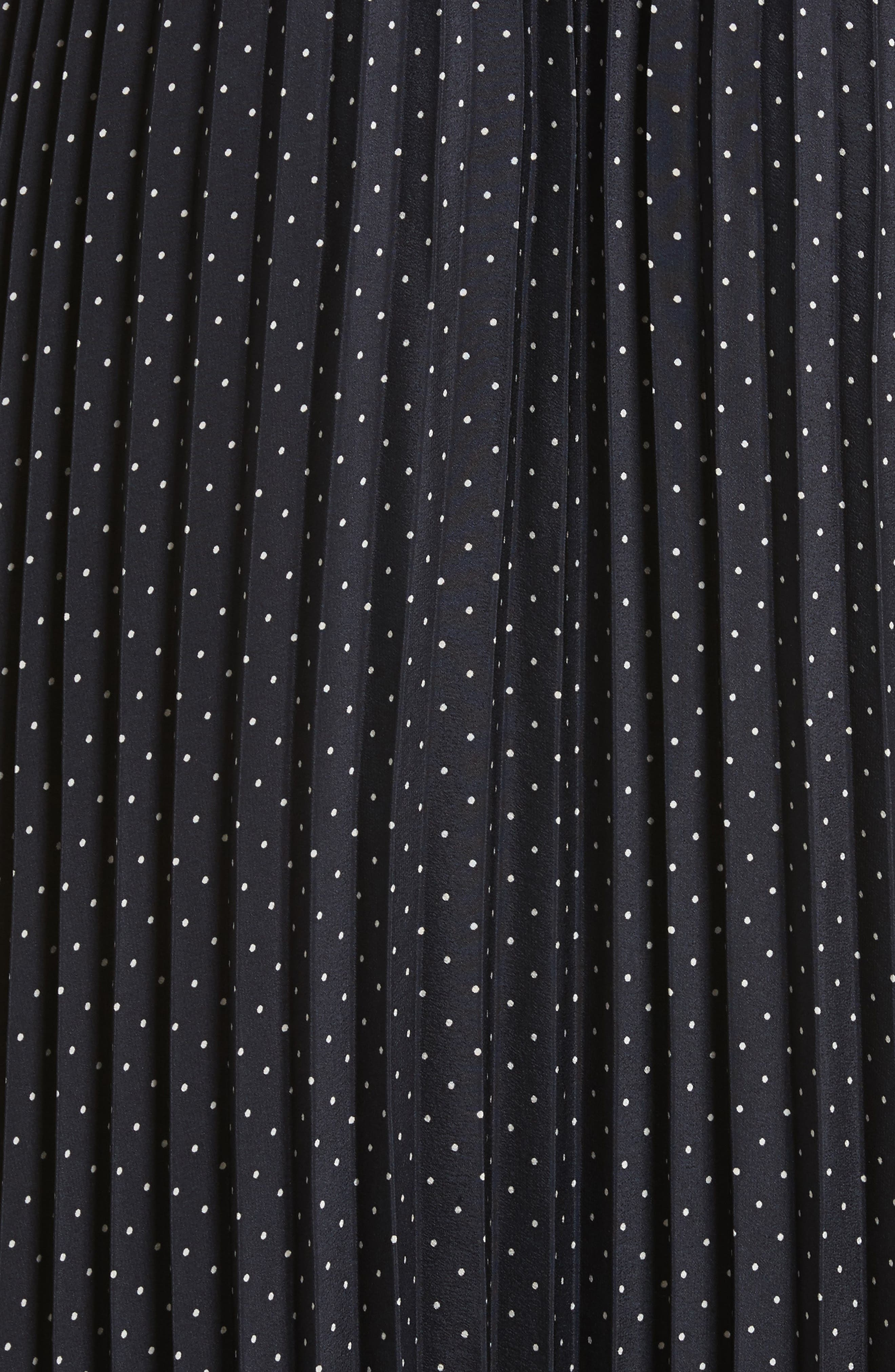 Polka Dot Pleated Slipdress,                             Alternate thumbnail 5, color,                             496