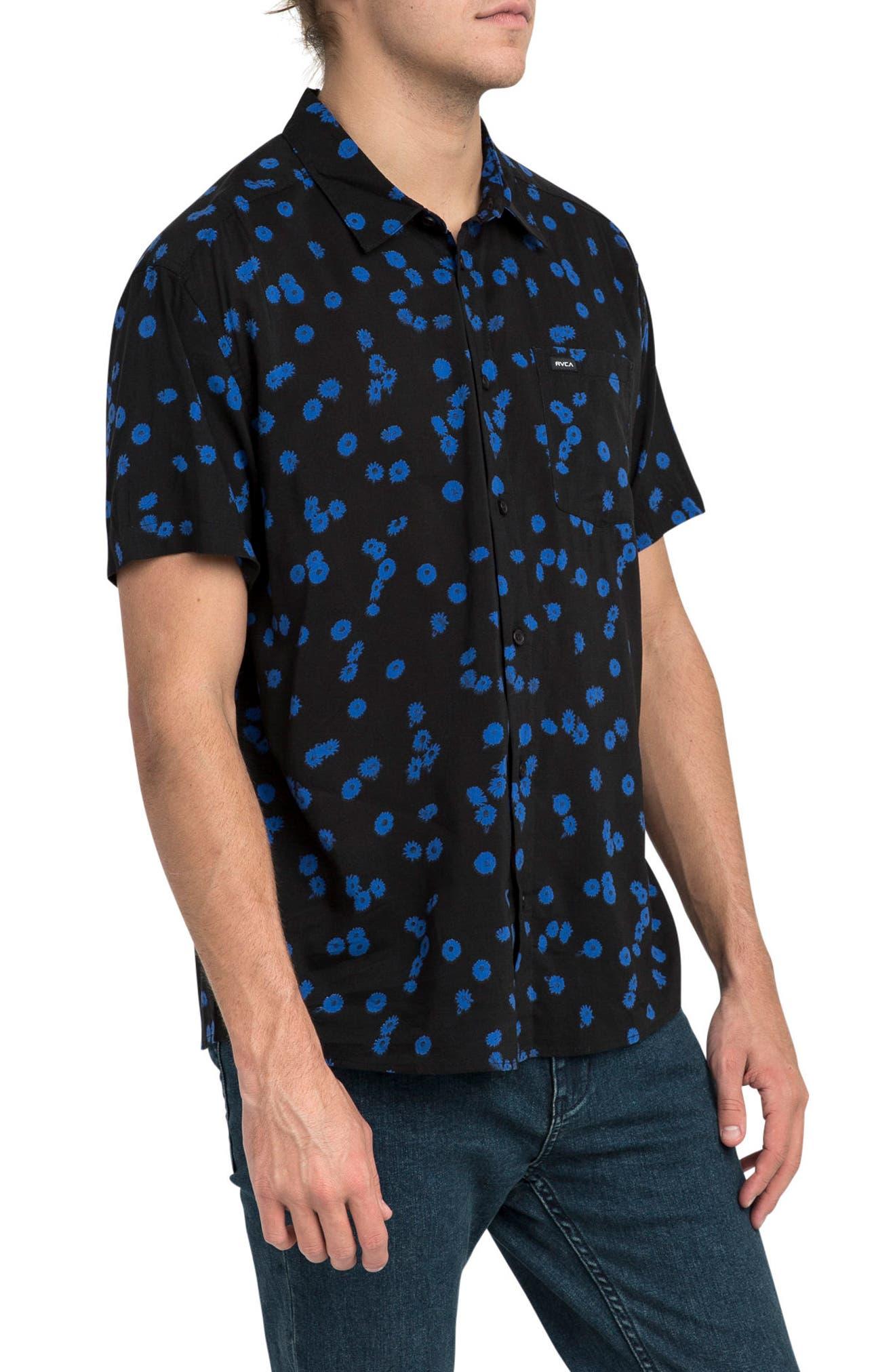 Overdye Floral Shirt,                             Alternate thumbnail 3, color,                             001