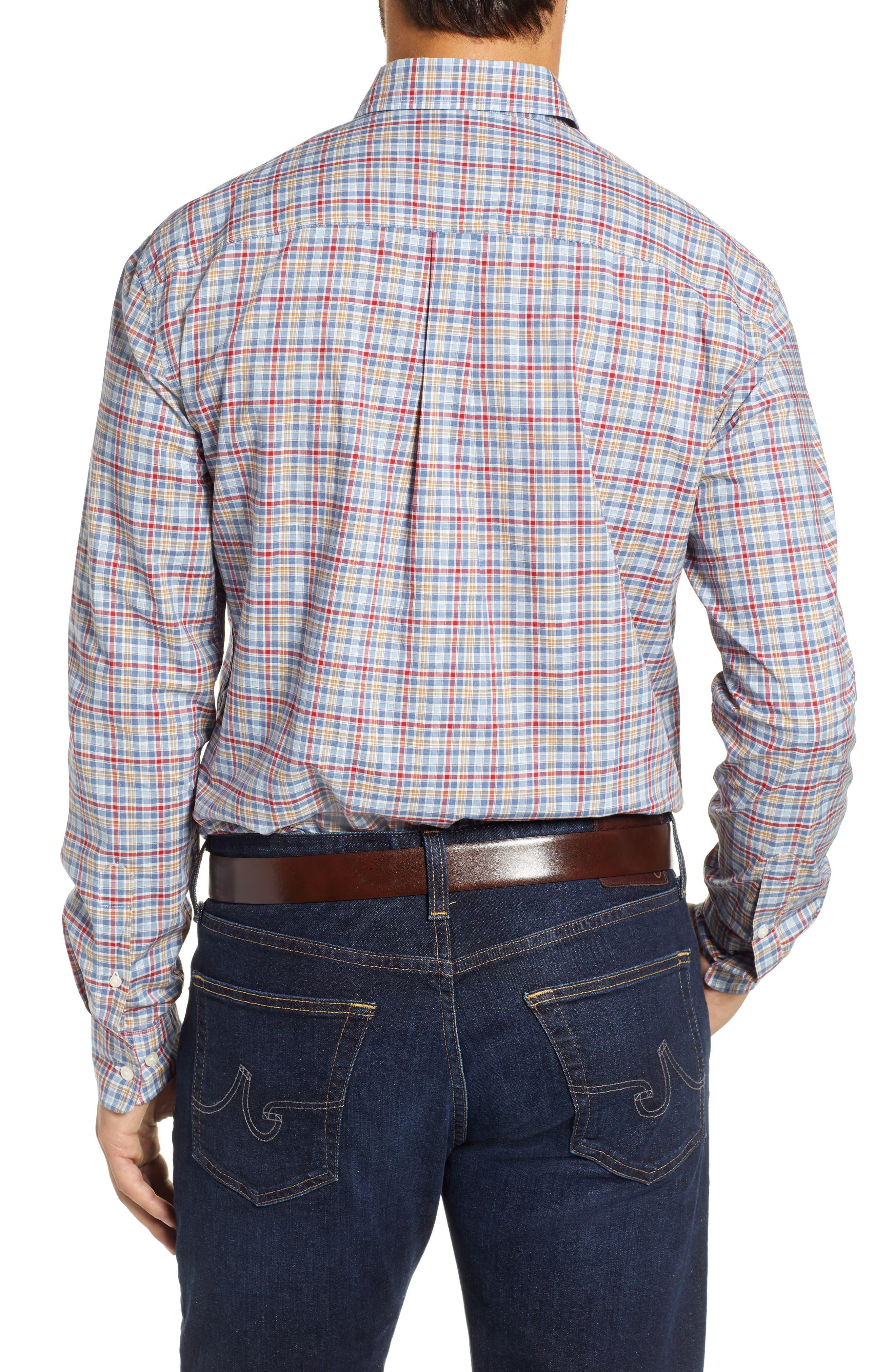 Ellis Classic Fit Sport Shirt,                             Alternate thumbnail 3, color,                             MARINER
