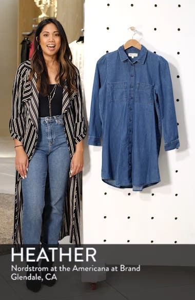 Puff Sleeve Denim Shirtdress, sales video thumbnail