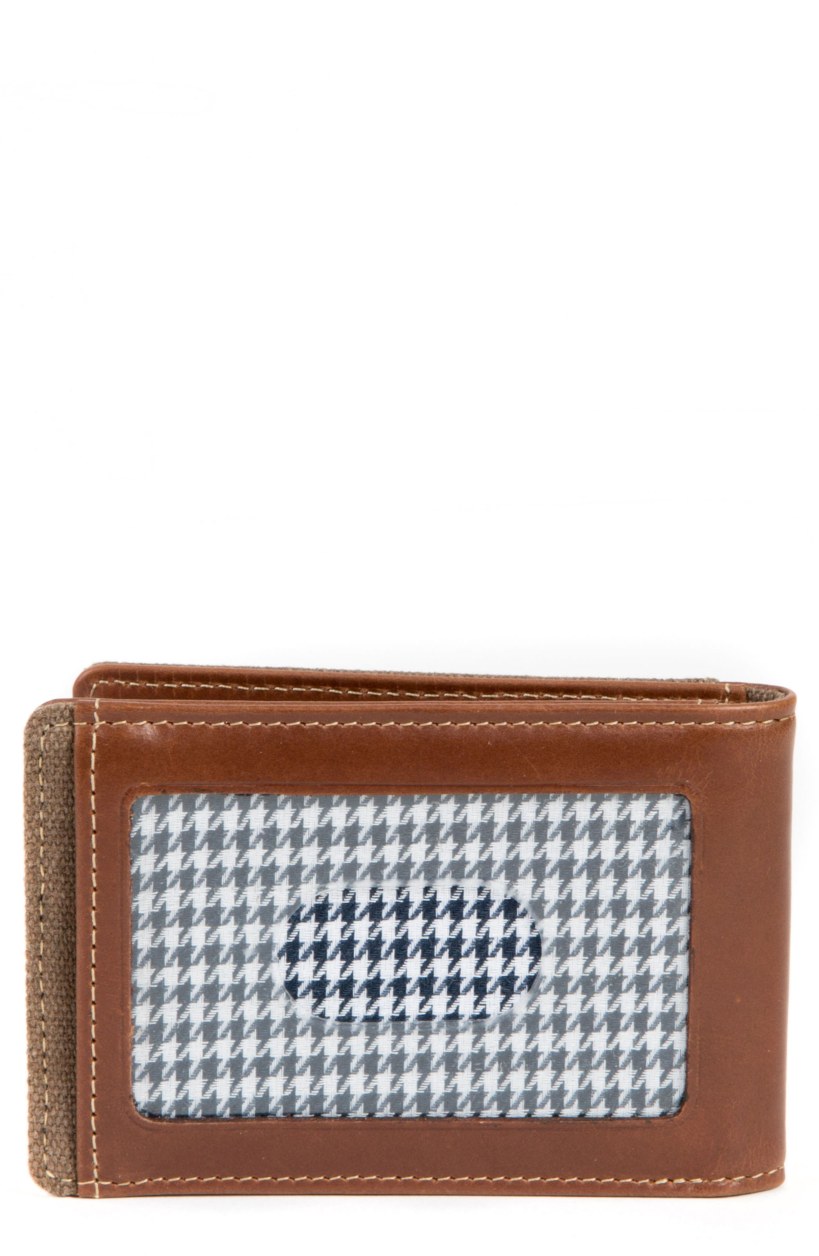 Bryant Bifold Money Clip Wallet,                         Main,                         color, MAHOGANY/ HEATHER