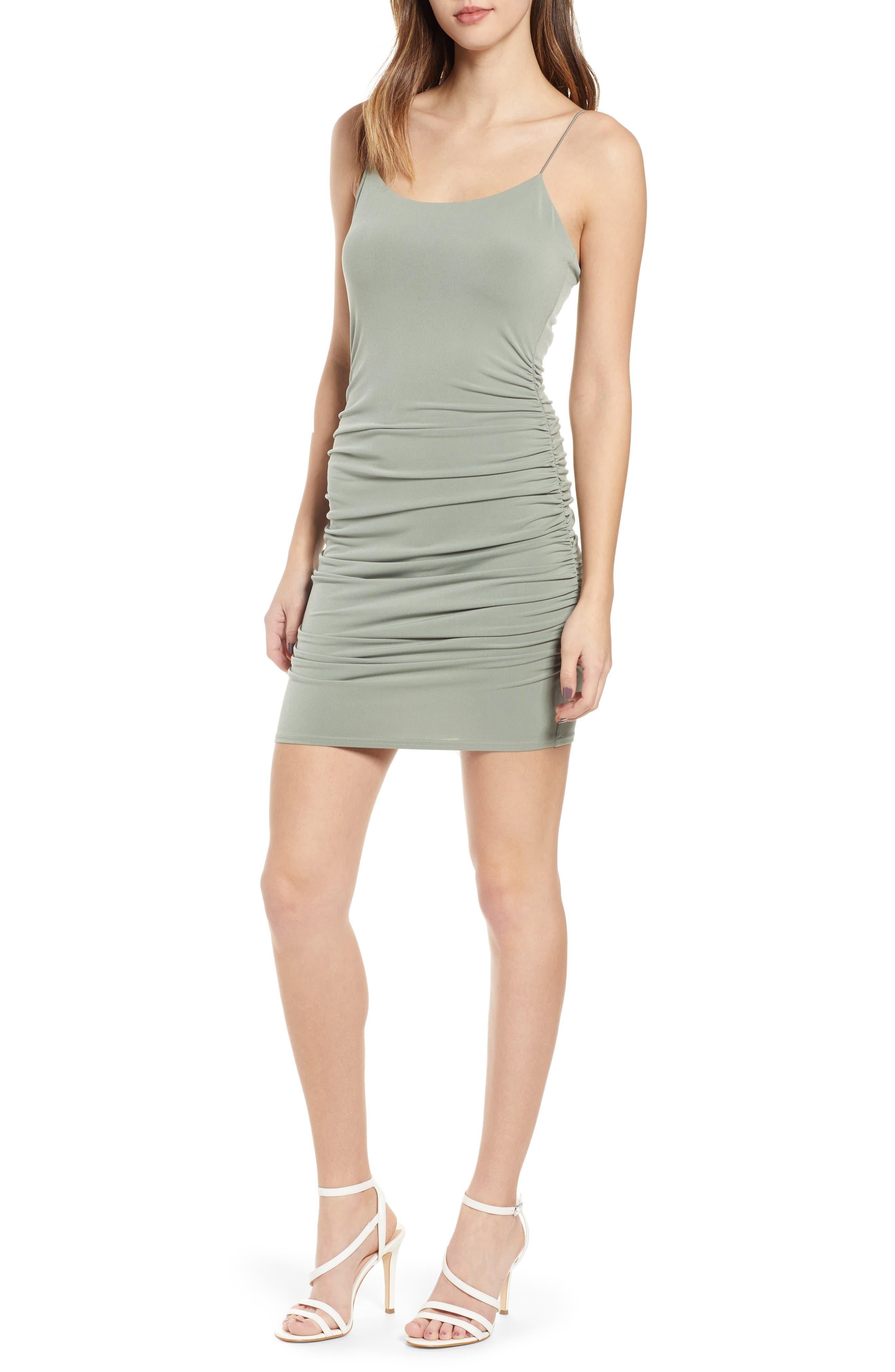 Leith Mini Body-Con Dress, Green