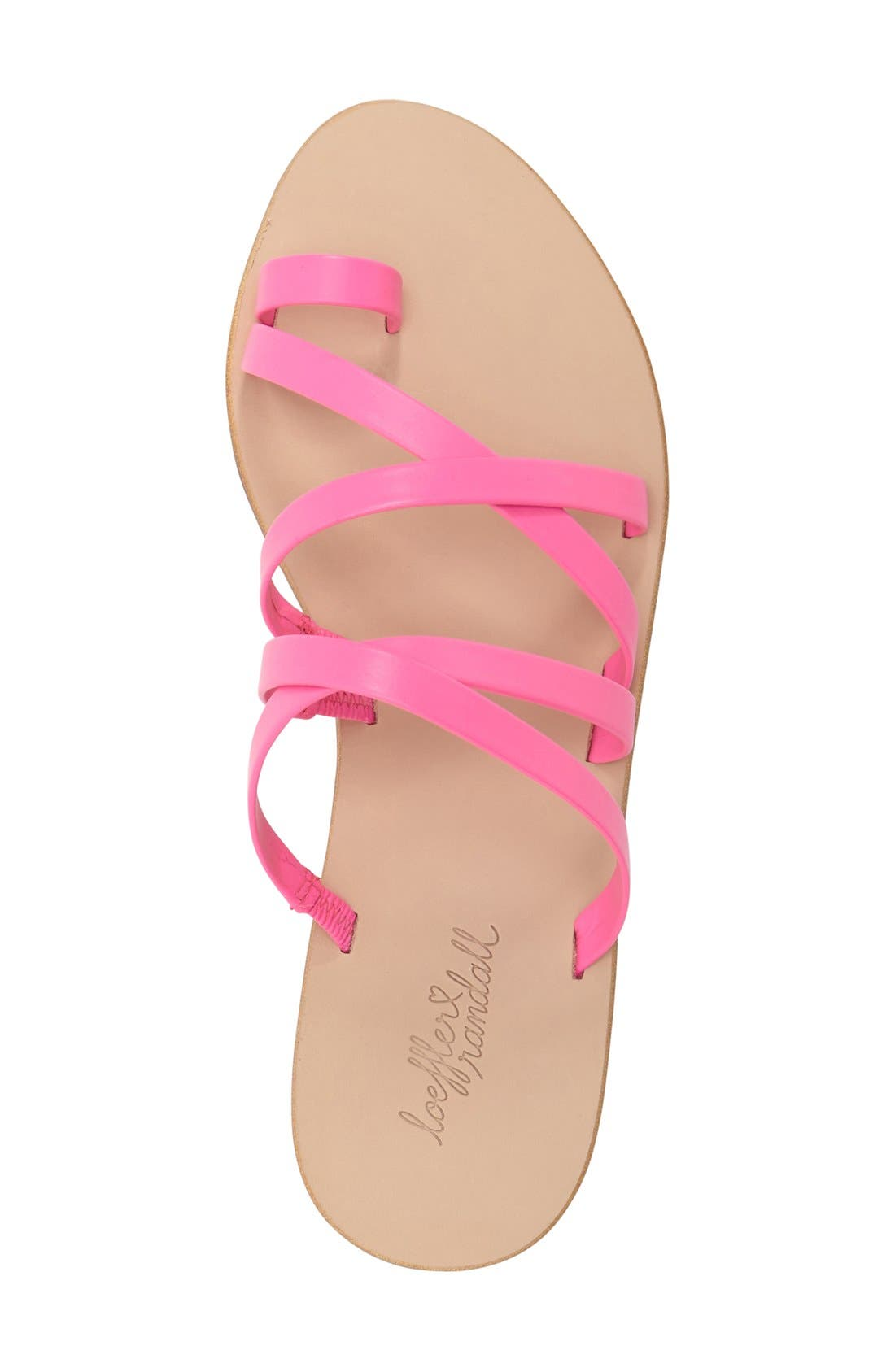 'Sarie' Strappy Flat Sandal,                             Alternate thumbnail 4, color,                             690