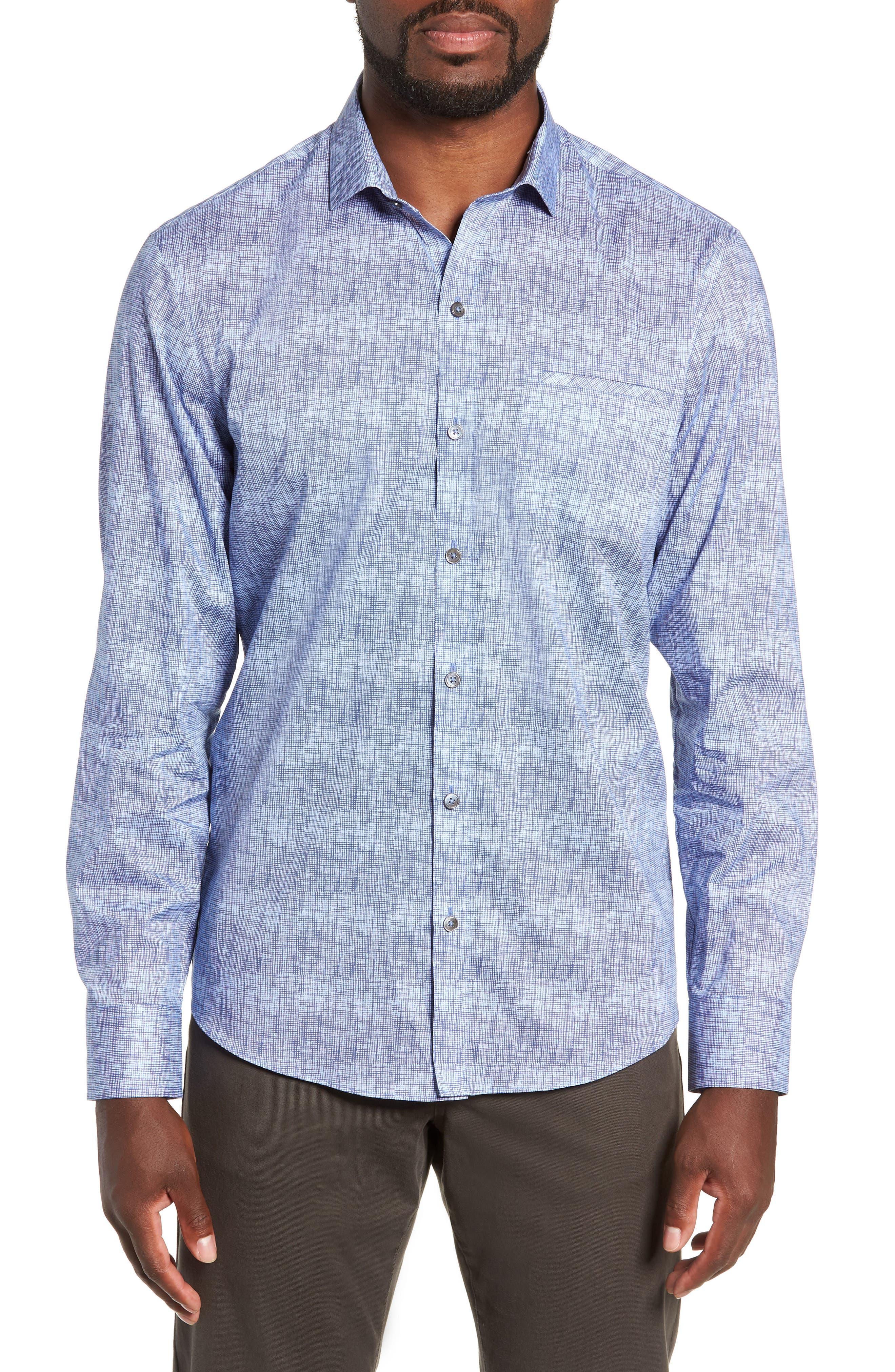 Oppong Sport Shirt,                         Main,                         color, BLUE