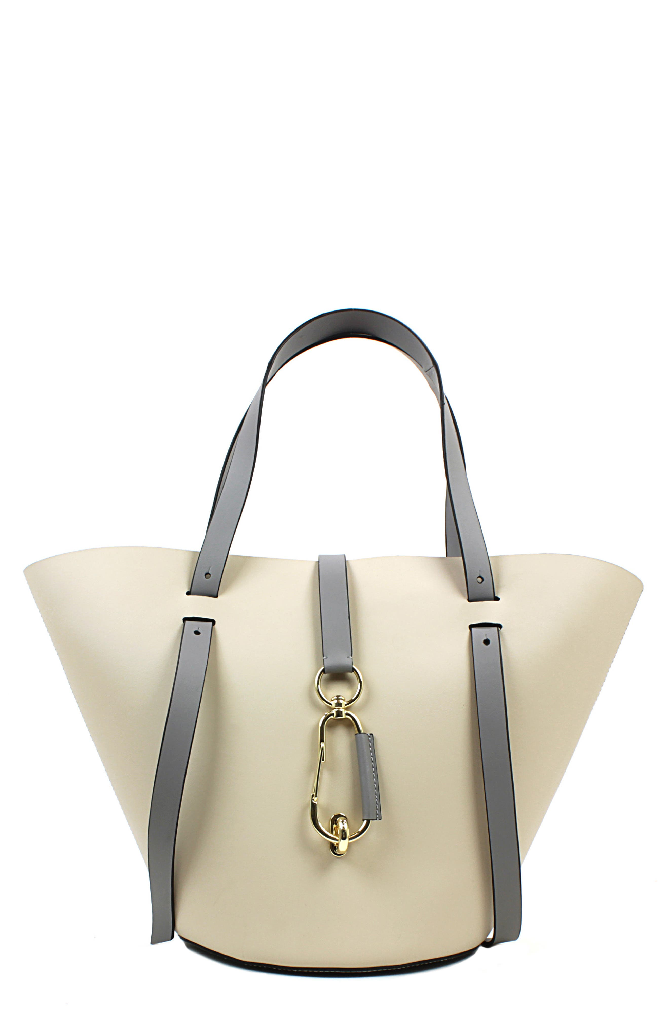 Belay Leather Crossbody Tote,                         Main,                         color, GARGOYLE