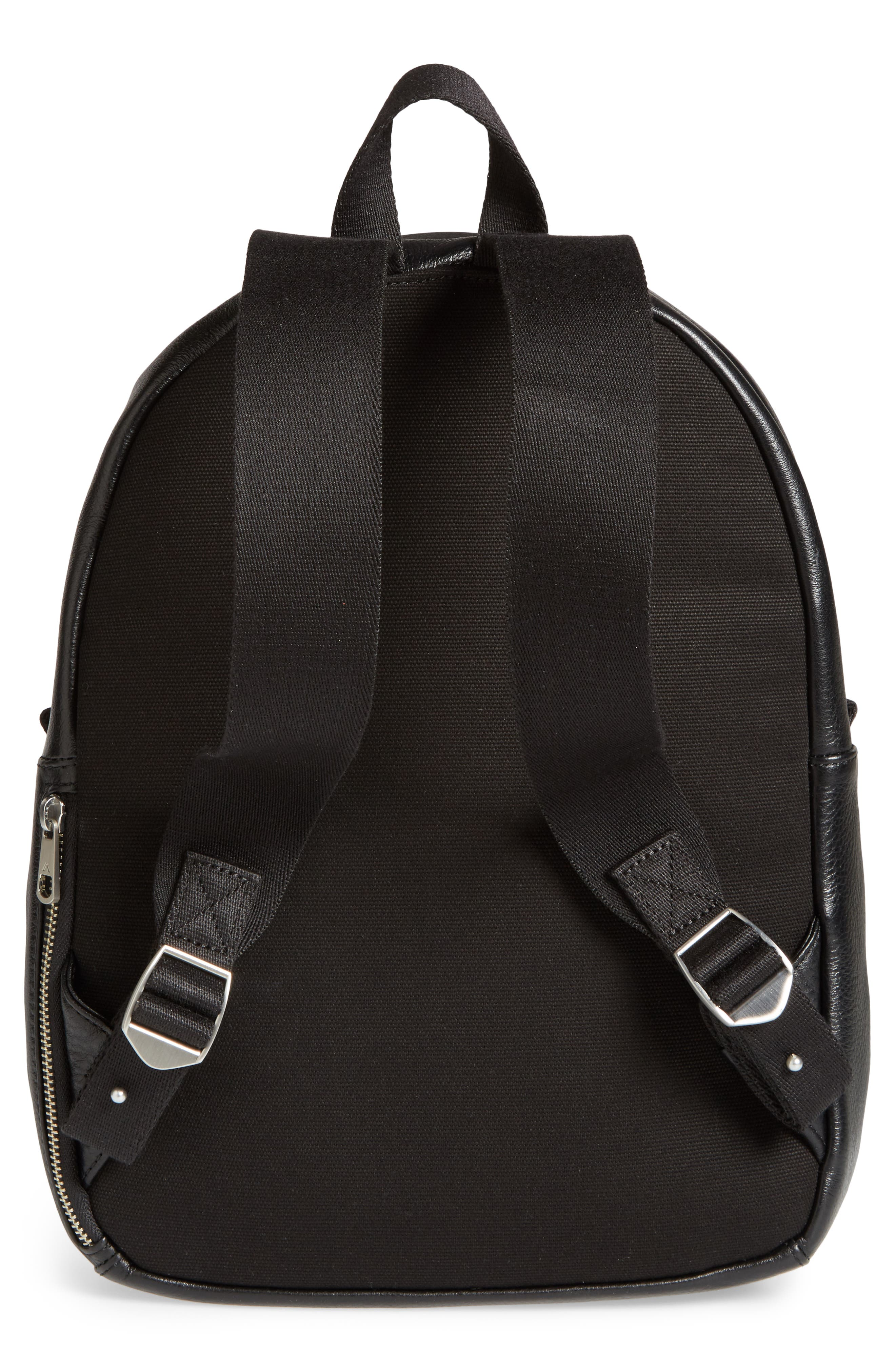 Greenwood Mini Lorimer Leather Backpack,                             Alternate thumbnail 3, color,                             001