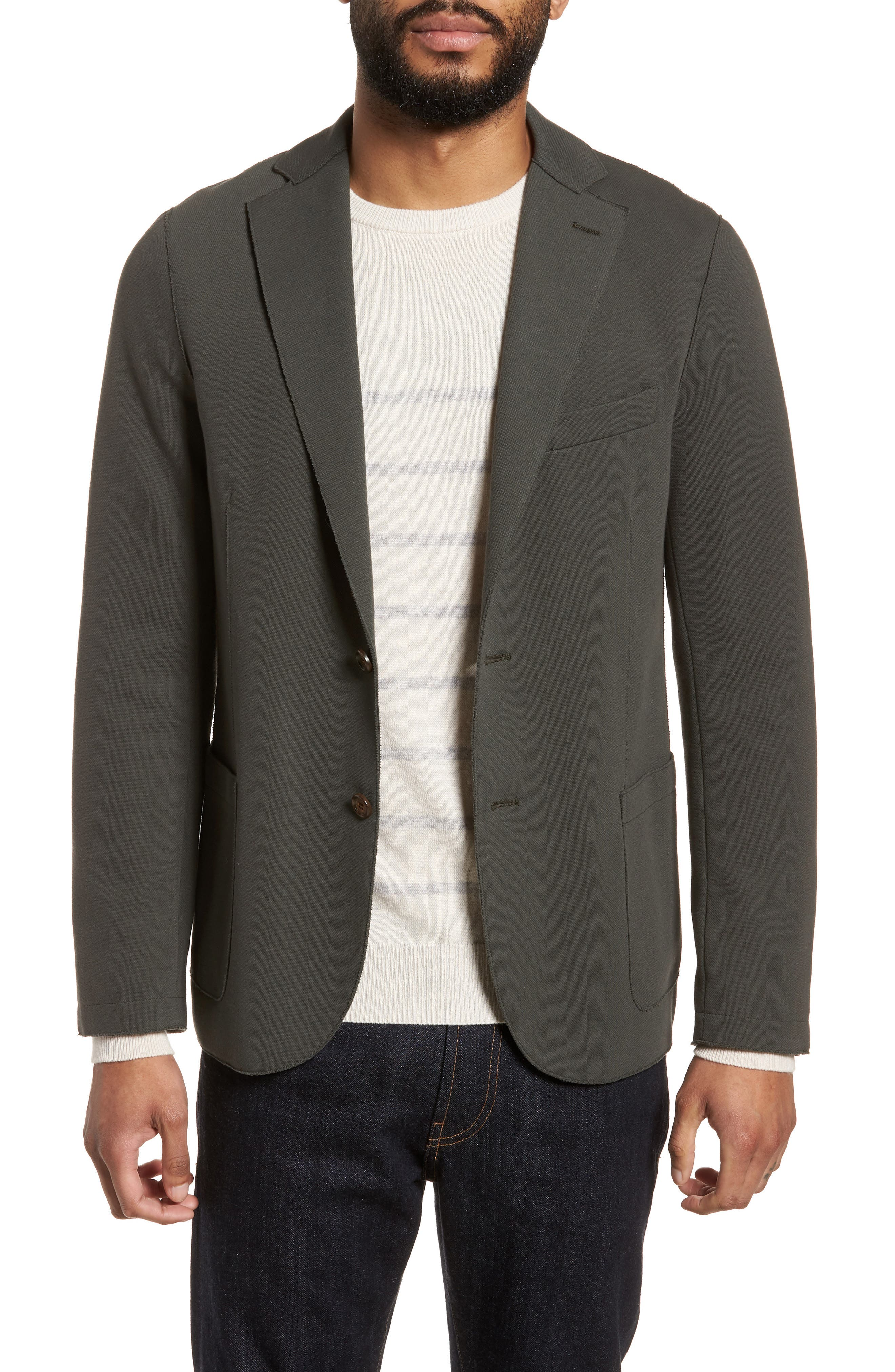 Trim Fit Laser Cut Piqué Jacket,                         Main,                         color, 328