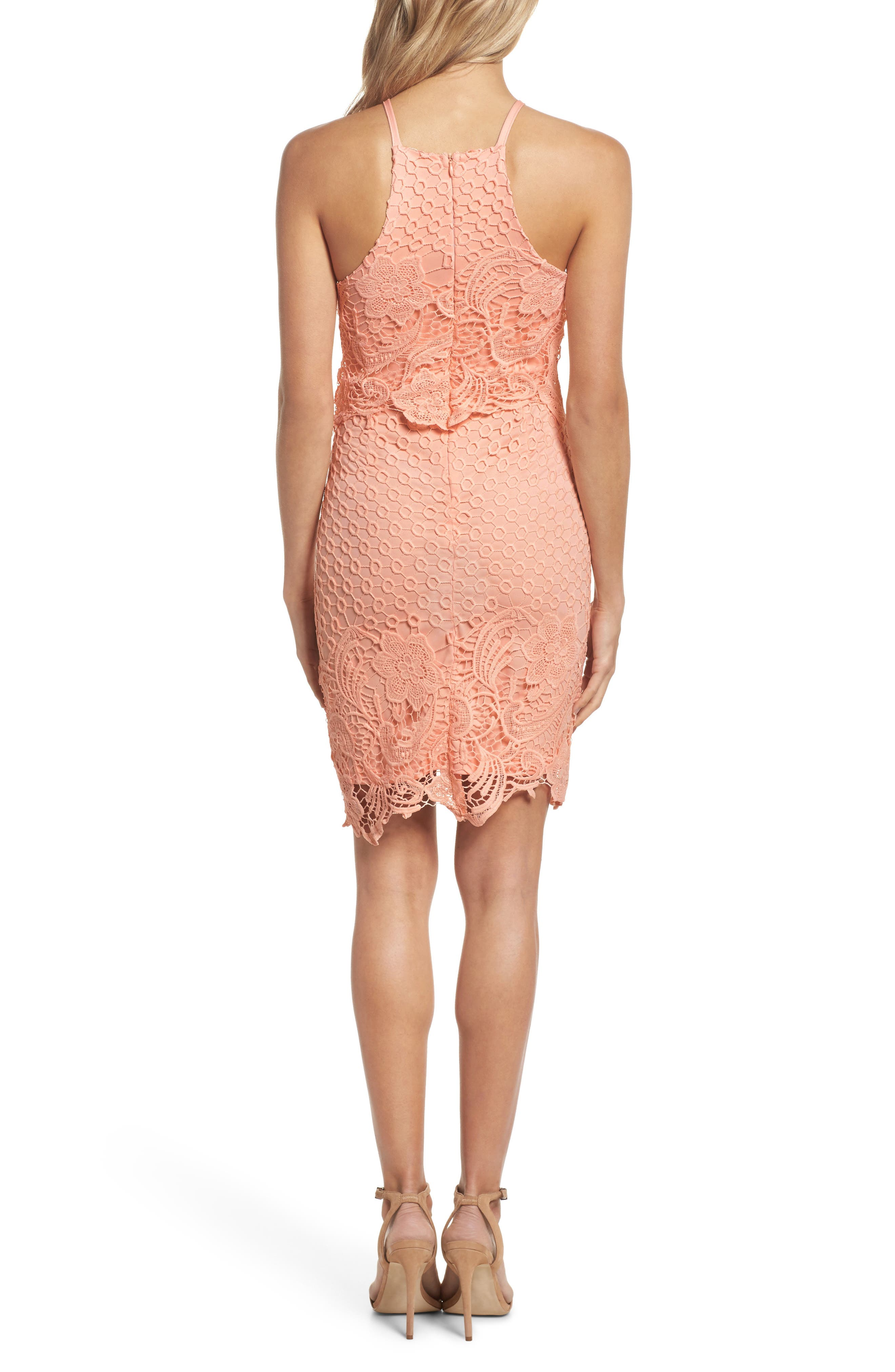 Bryn Lace Halter Dress,                             Alternate thumbnail 4, color,