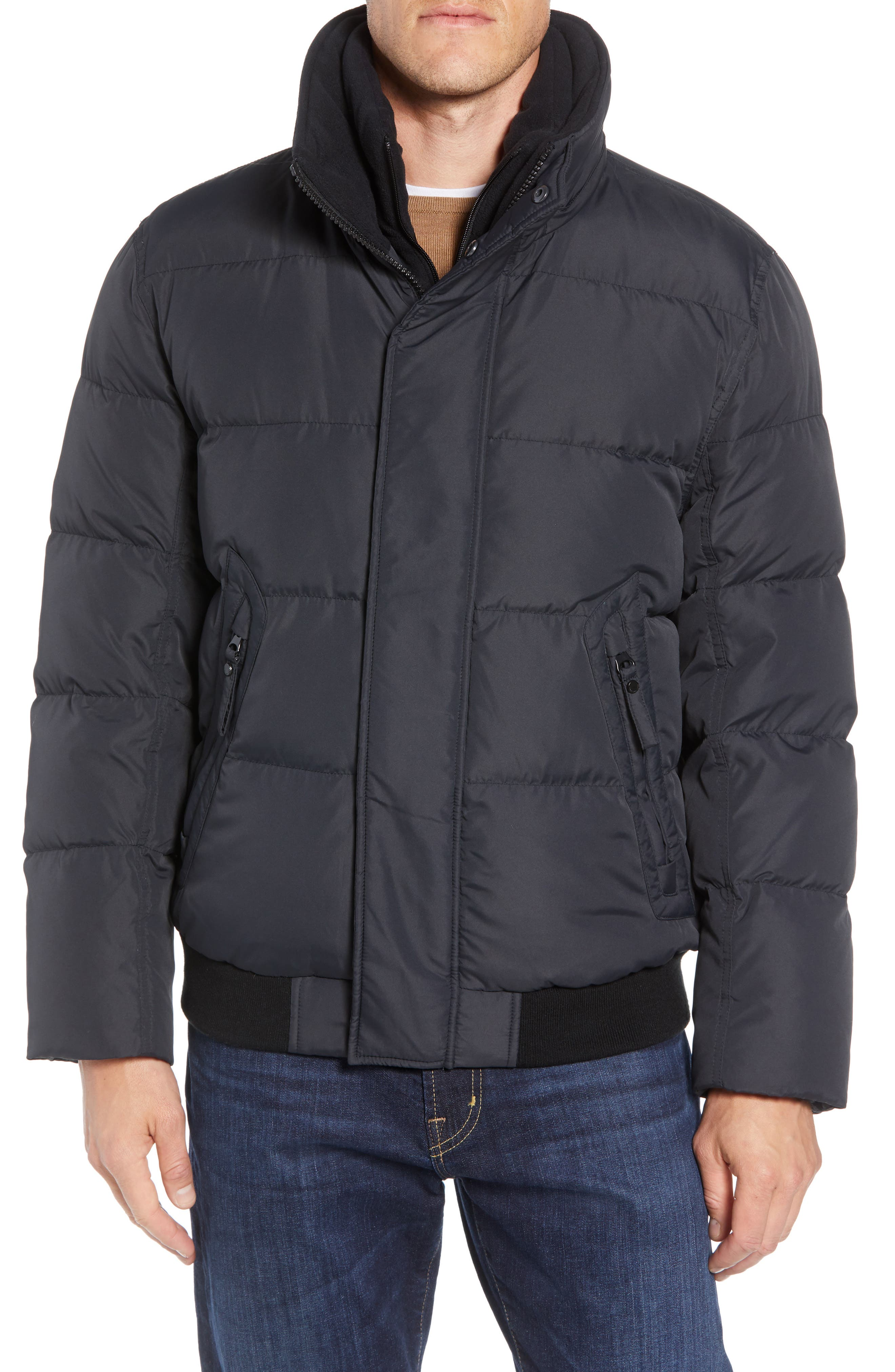 Clermont Insulated Bomber Jacket,                             Alternate thumbnail 2, color,                             BLACK