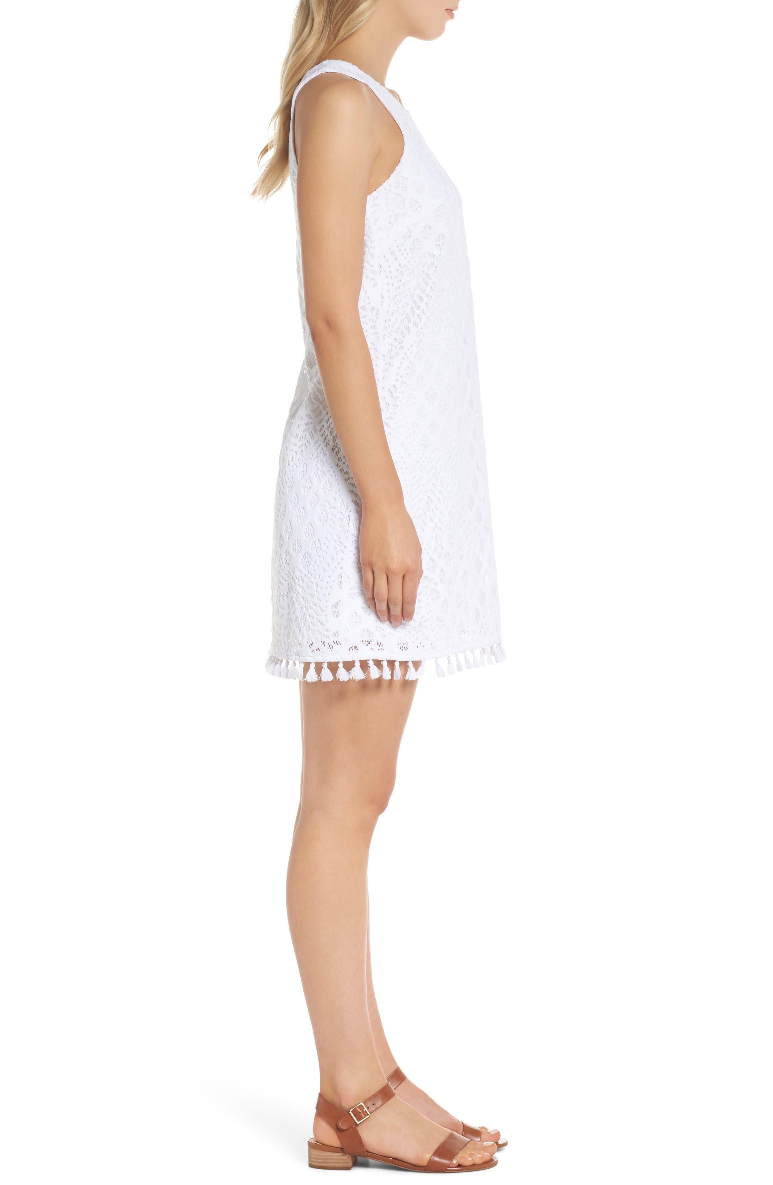 Marquette Lace Shift Dress,                             Alternate thumbnail 3, color,                             115
