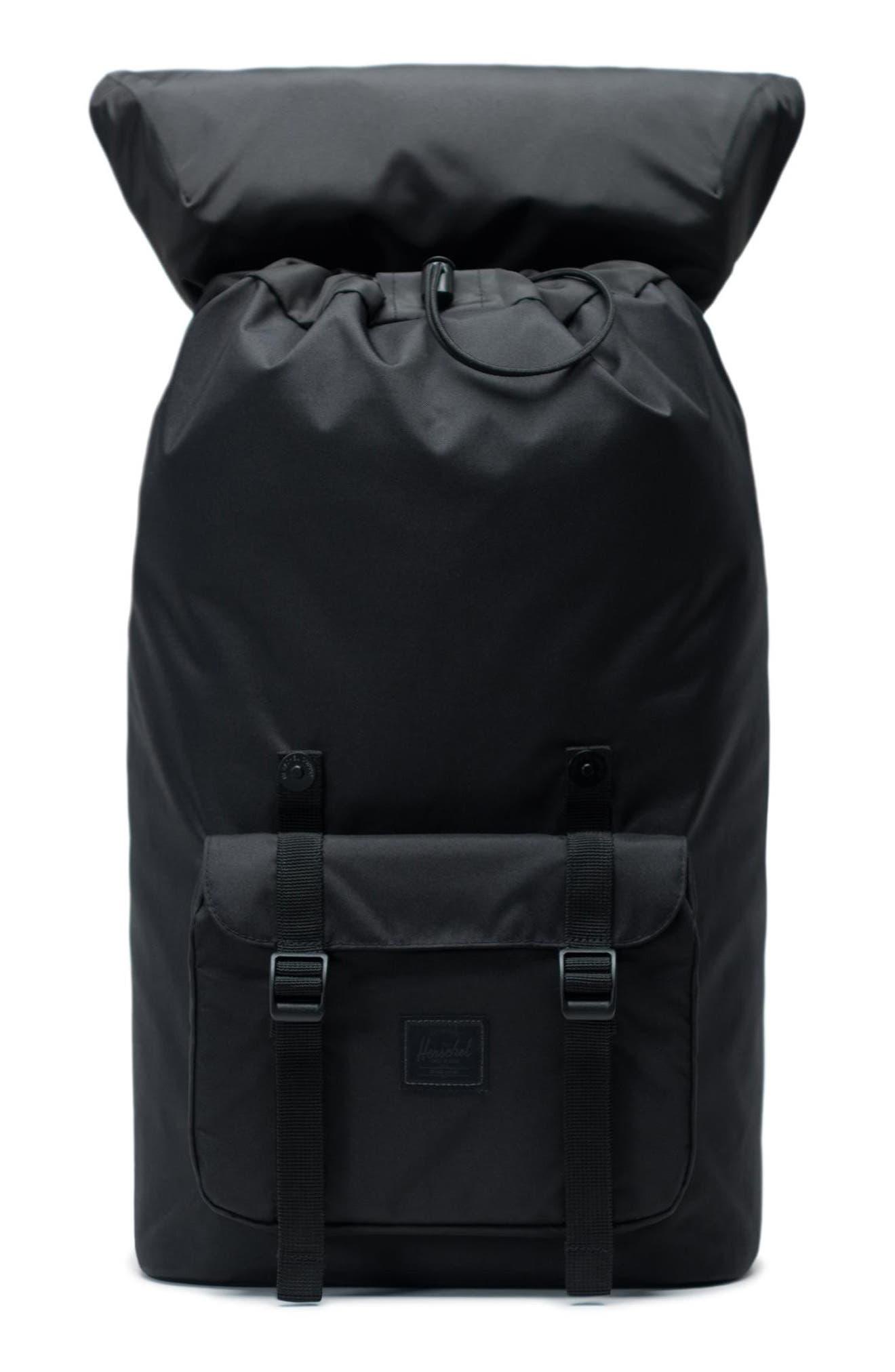 Little America Light Backpack,                             Alternate thumbnail 3, color,                             BLACK
