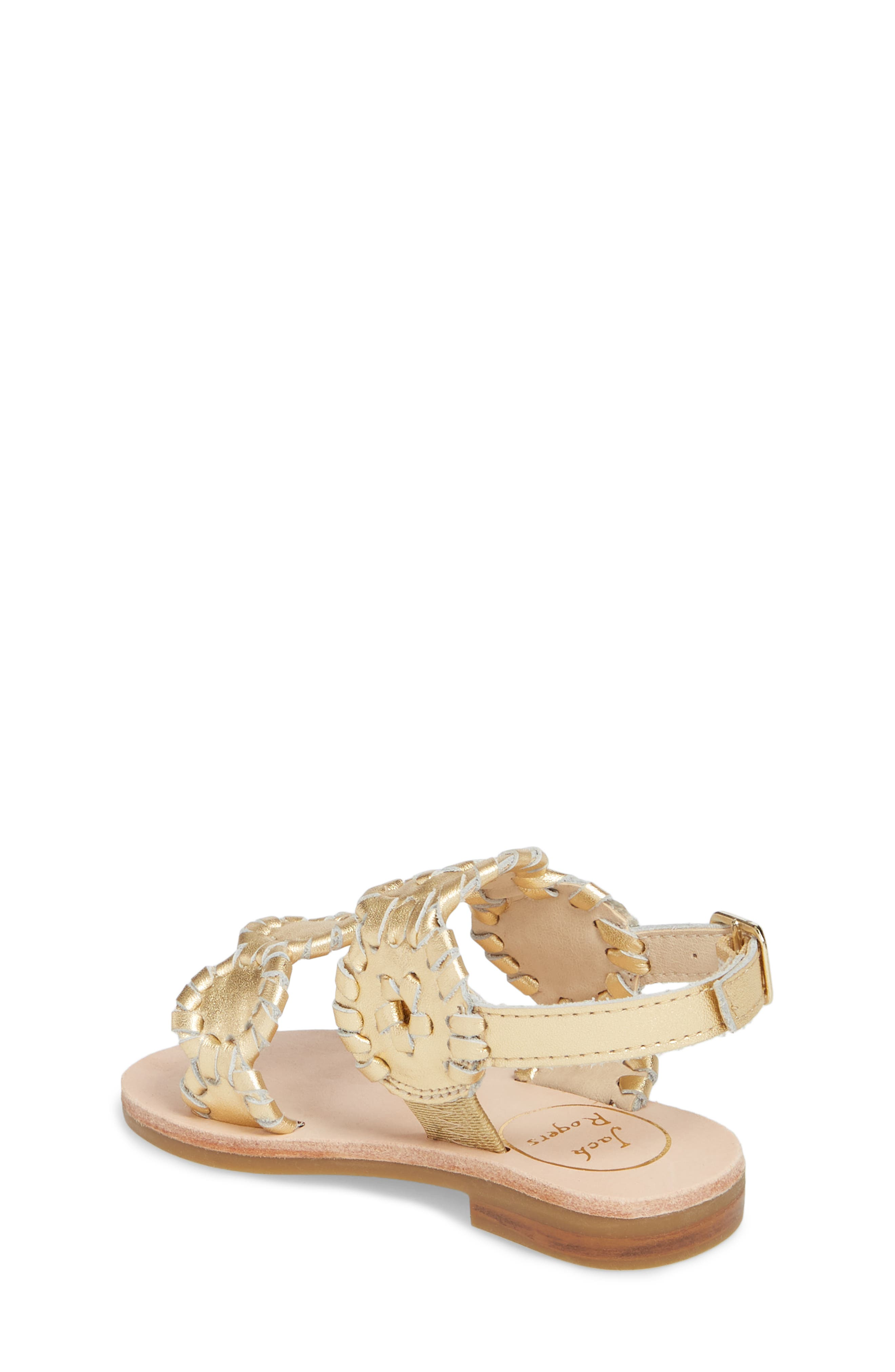 Little Miss Lauren Sandal,                             Alternate thumbnail 2, color,                             GOLD LEATHER