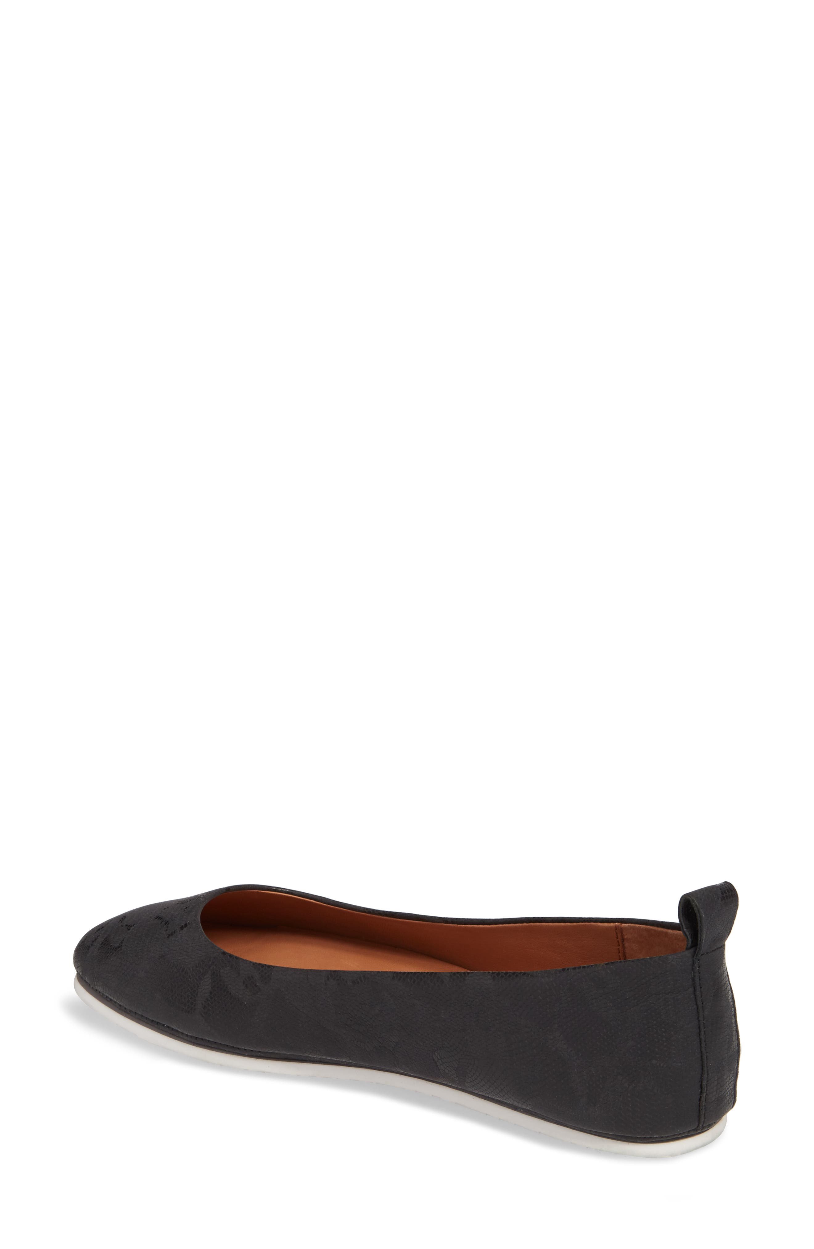 by Kenneth Cole Dana Flat,                             Alternate thumbnail 2, color,                             BLACK/ BLACK LEATHER