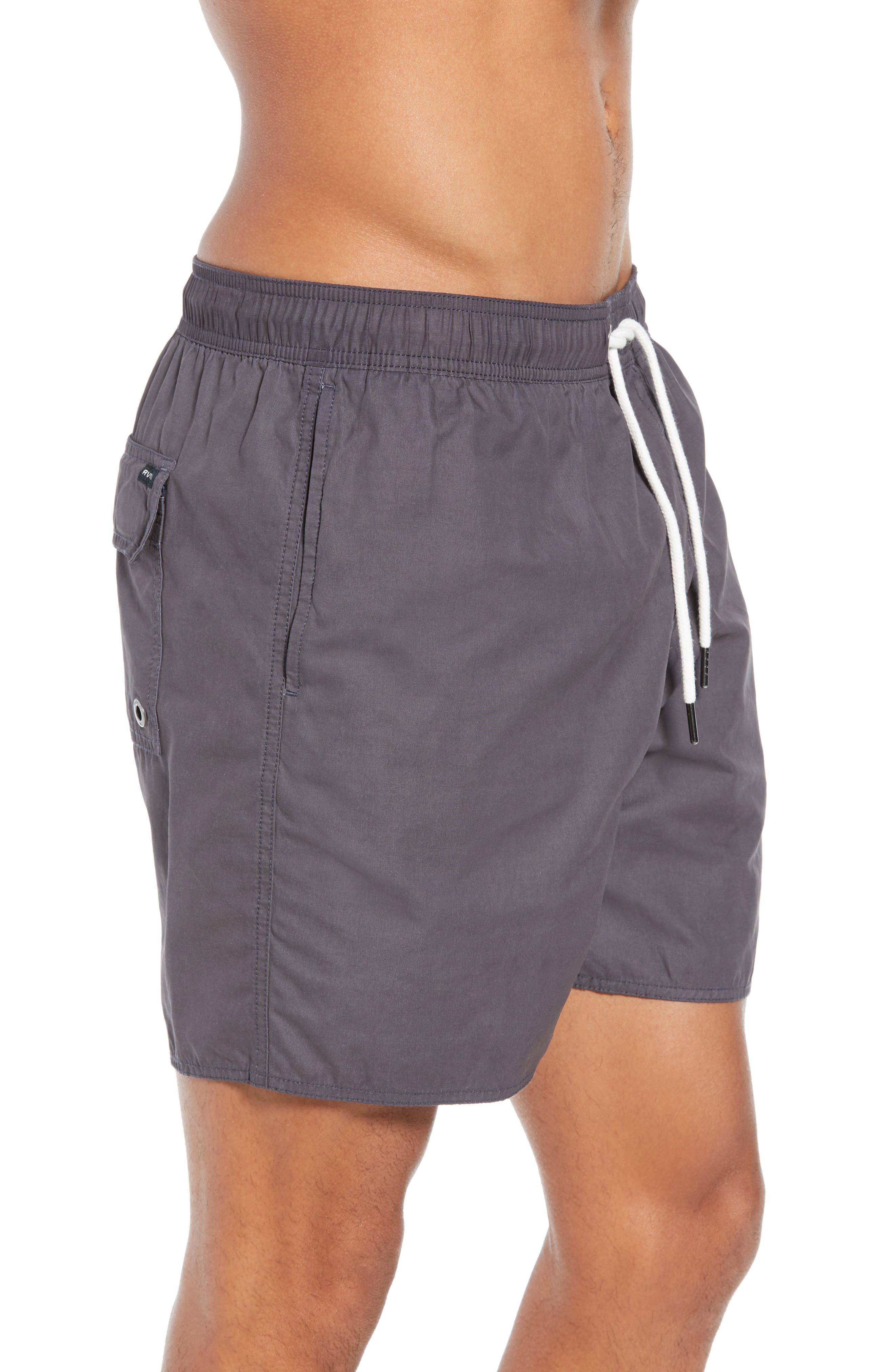 Horton Swim Trunks,                             Alternate thumbnail 3, color,                             OIL GREY