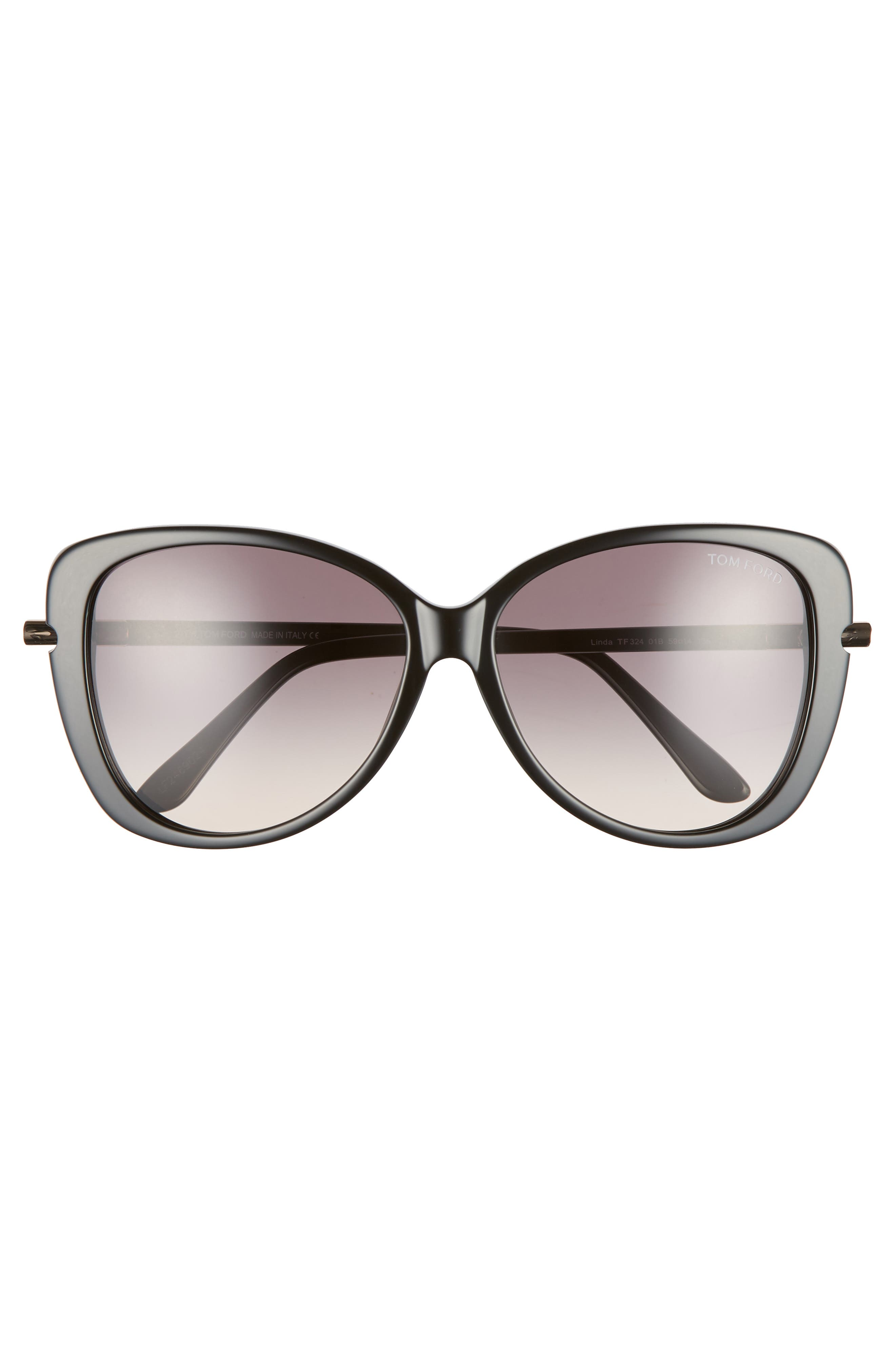 'Linda' 59mm Sunglasses,                             Alternate thumbnail 4, color,                             SHINY BLACK