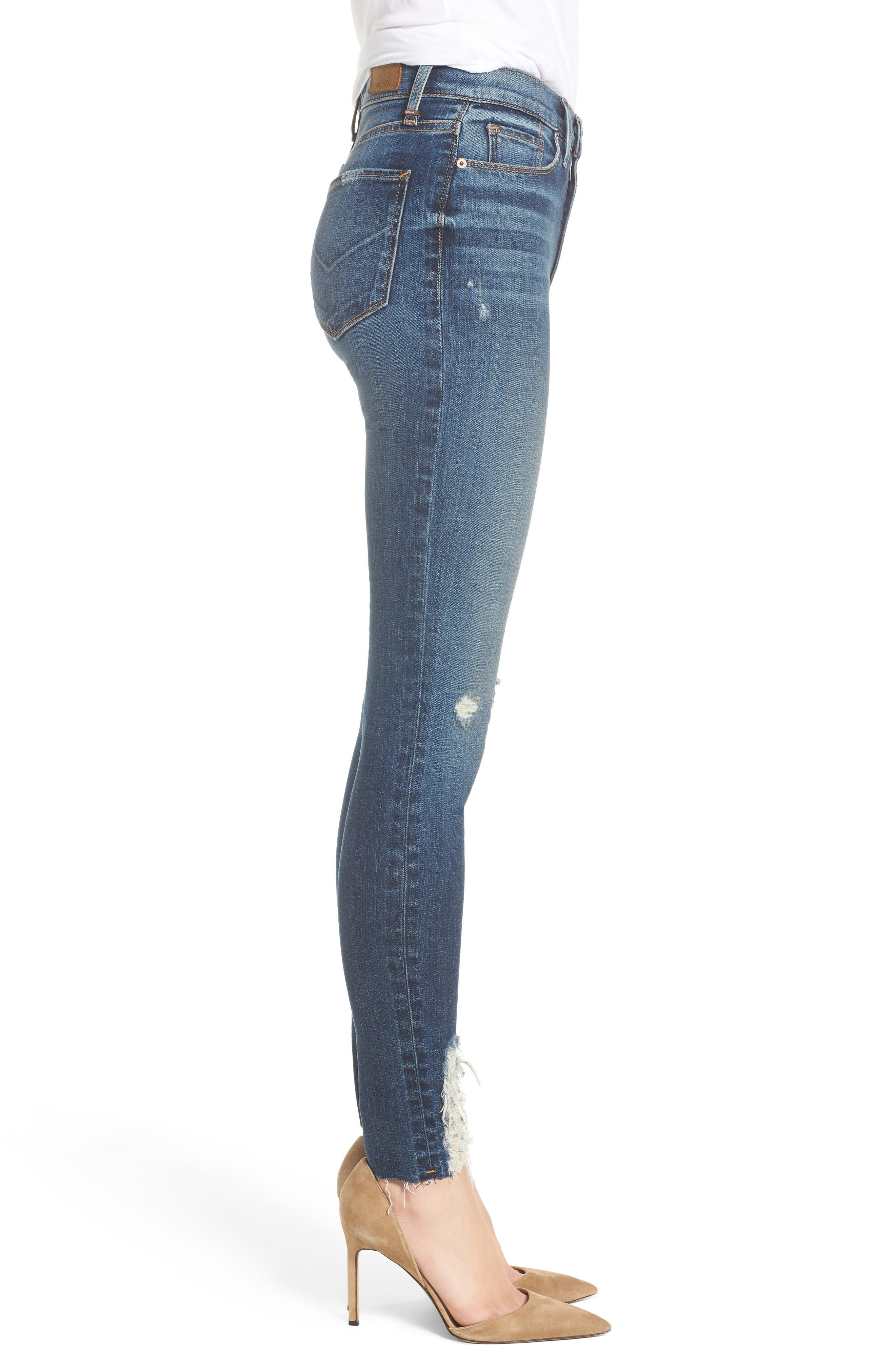 Hudson Barbara High Waist Ankle Skinny Jeans,                             Alternate thumbnail 3, color,                             401