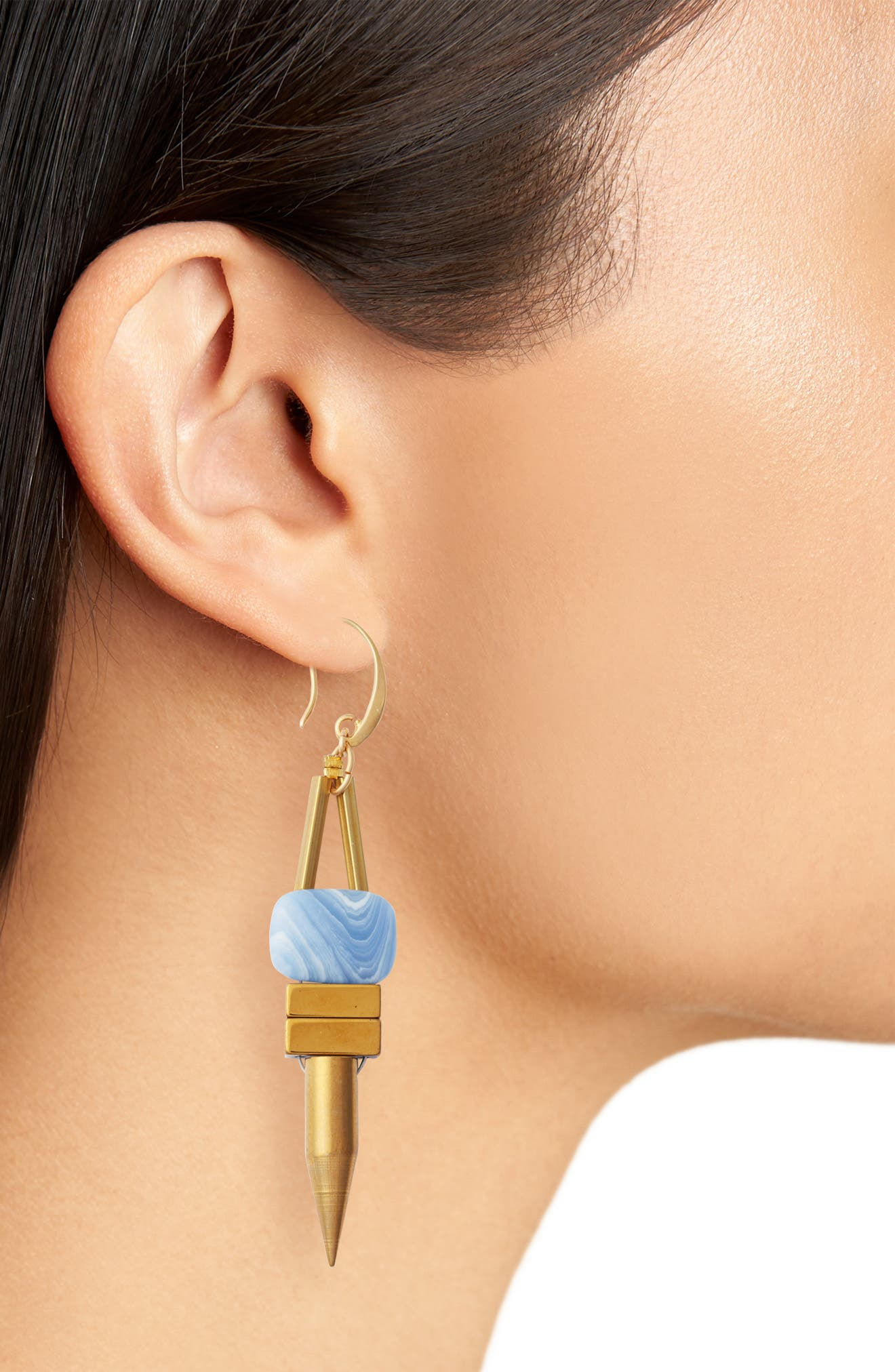 Rylee Spike Drop Earrings,                             Alternate thumbnail 3, color,                             400