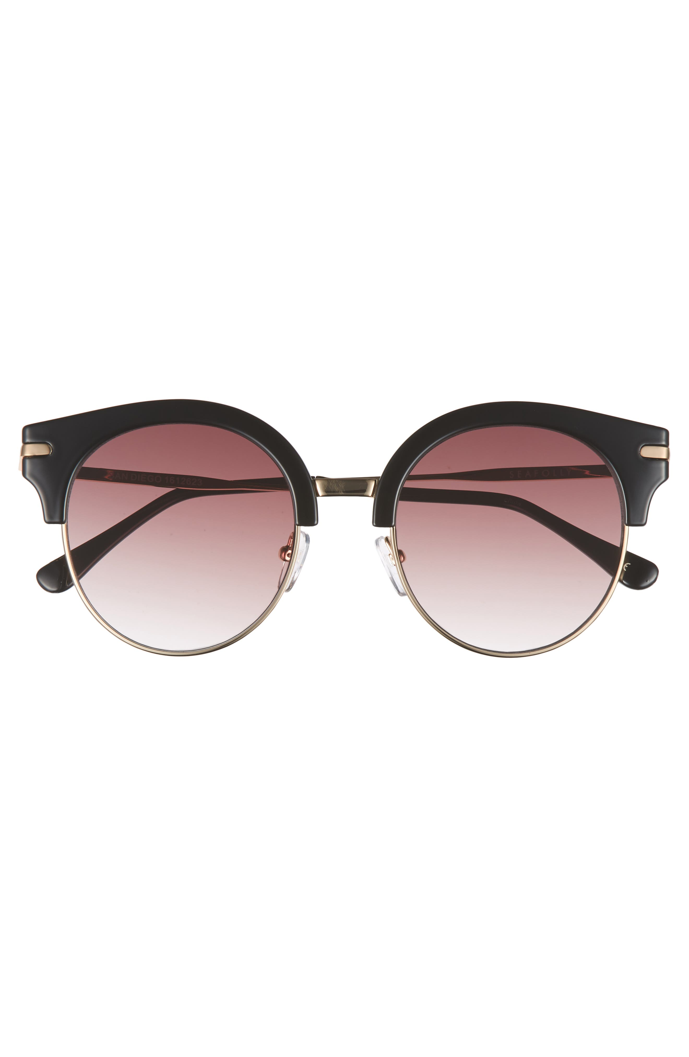 San Diego 52mm Cat Eye Sunglasses,                             Alternate thumbnail 3, color,                             001