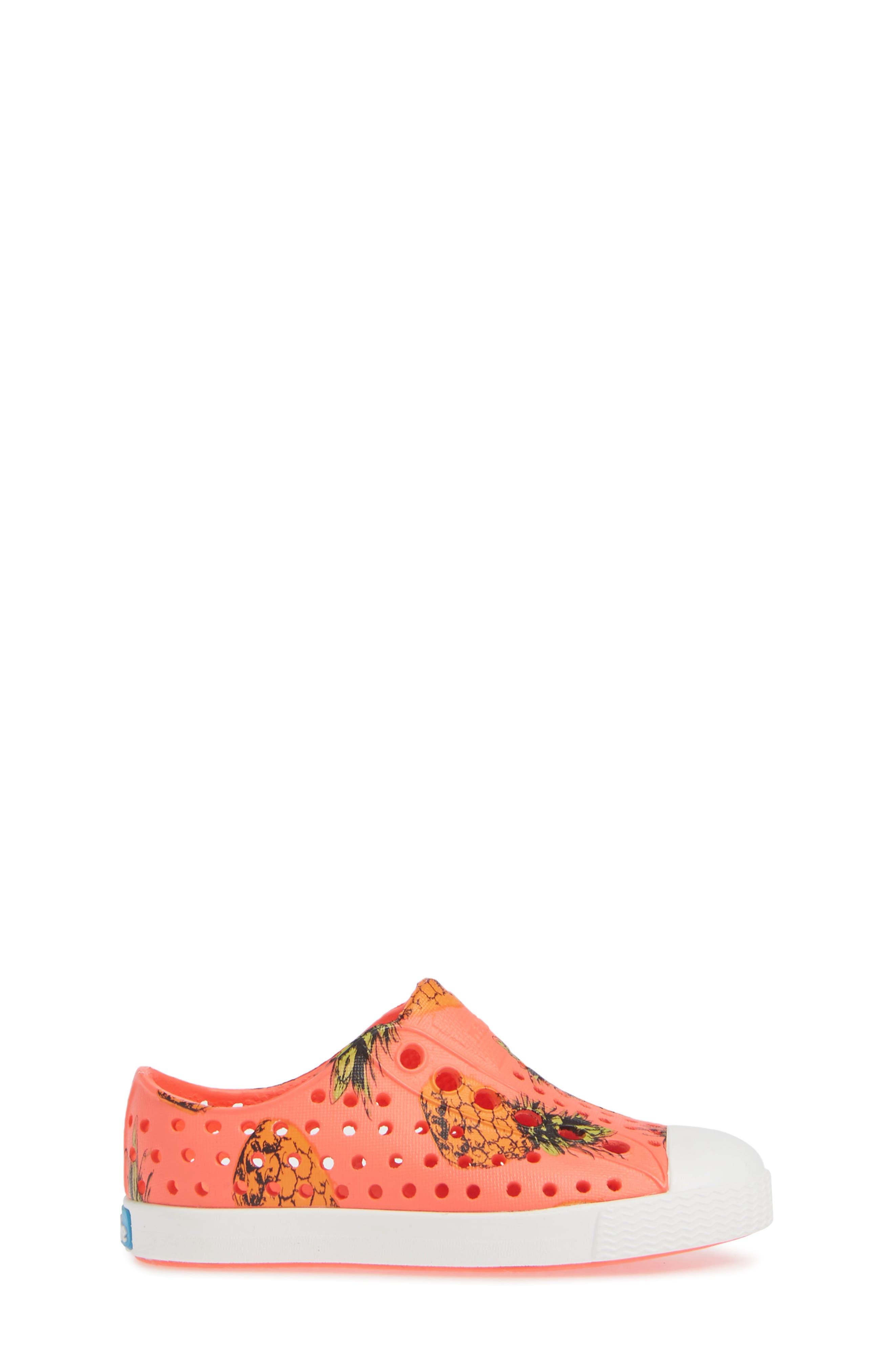 Jefferson Pineapple Print Water Friendly Sneaker,                             Alternate thumbnail 3, color,                             POPSTAR PINK/ WHITE PINEAPPLES