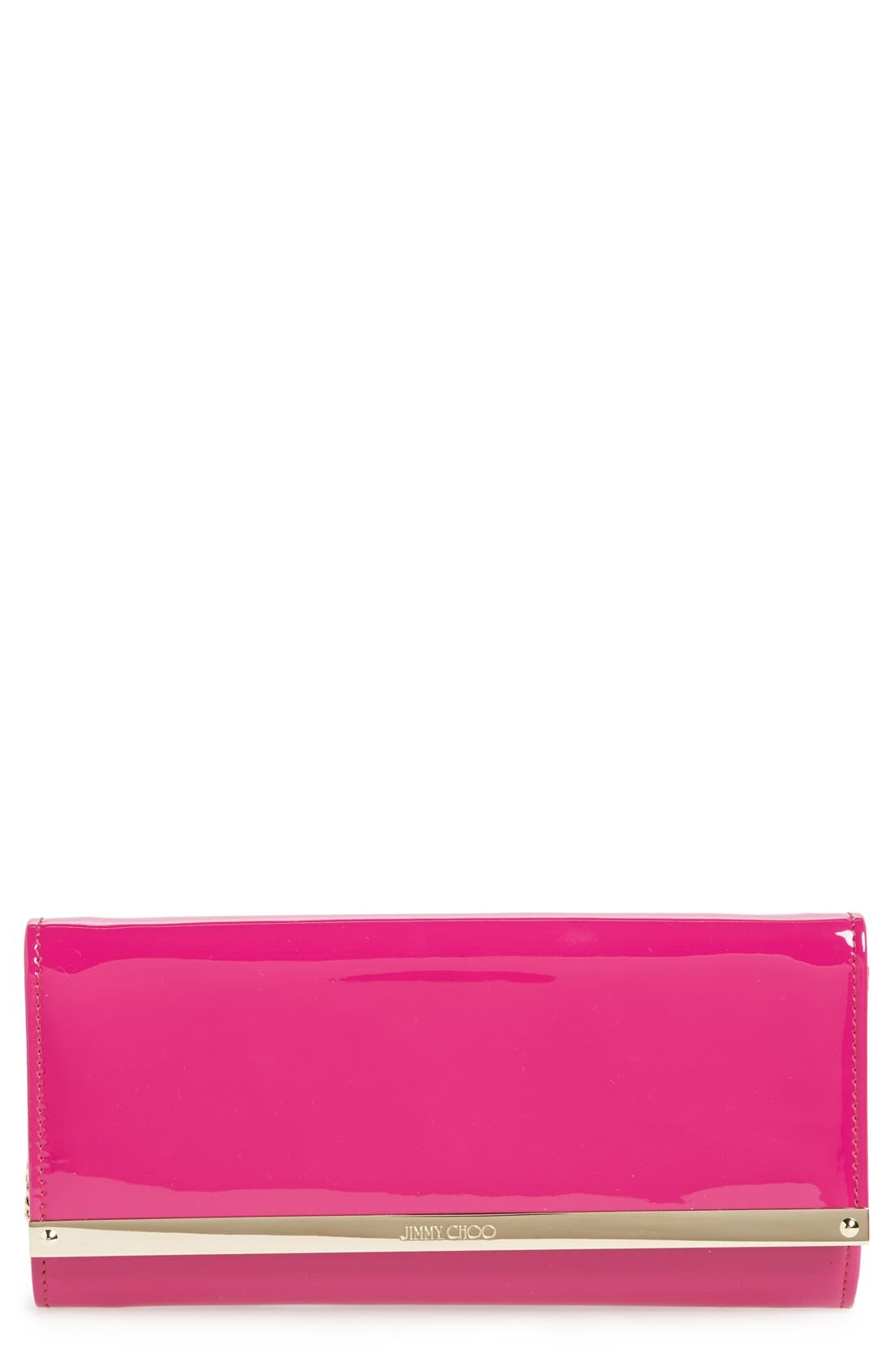 'Milla' Patent Leather Wallet on a Chain,                             Main thumbnail 6, color,