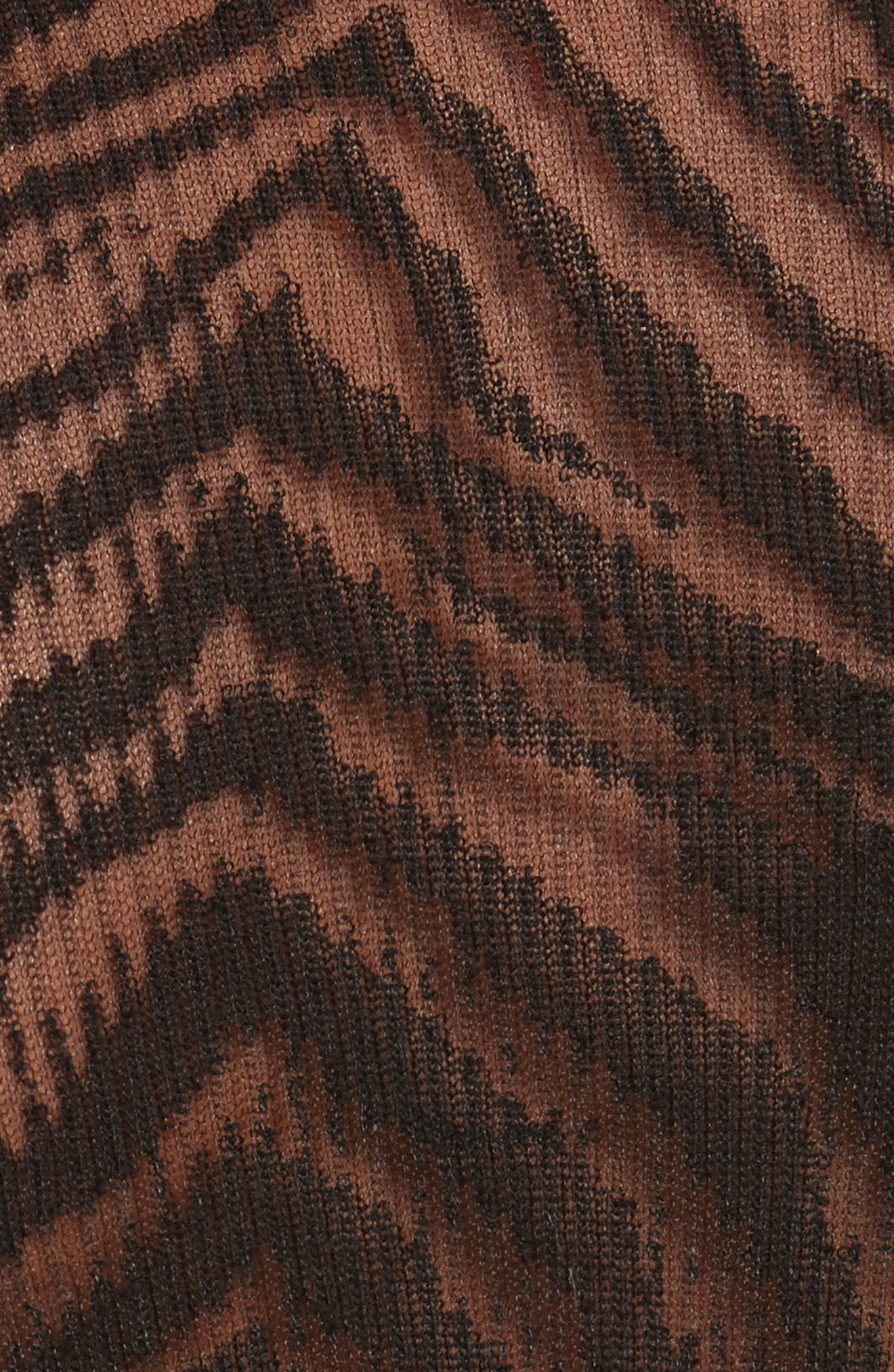 Zebra Knit Pullover,                             Alternate thumbnail 5, color,                             001