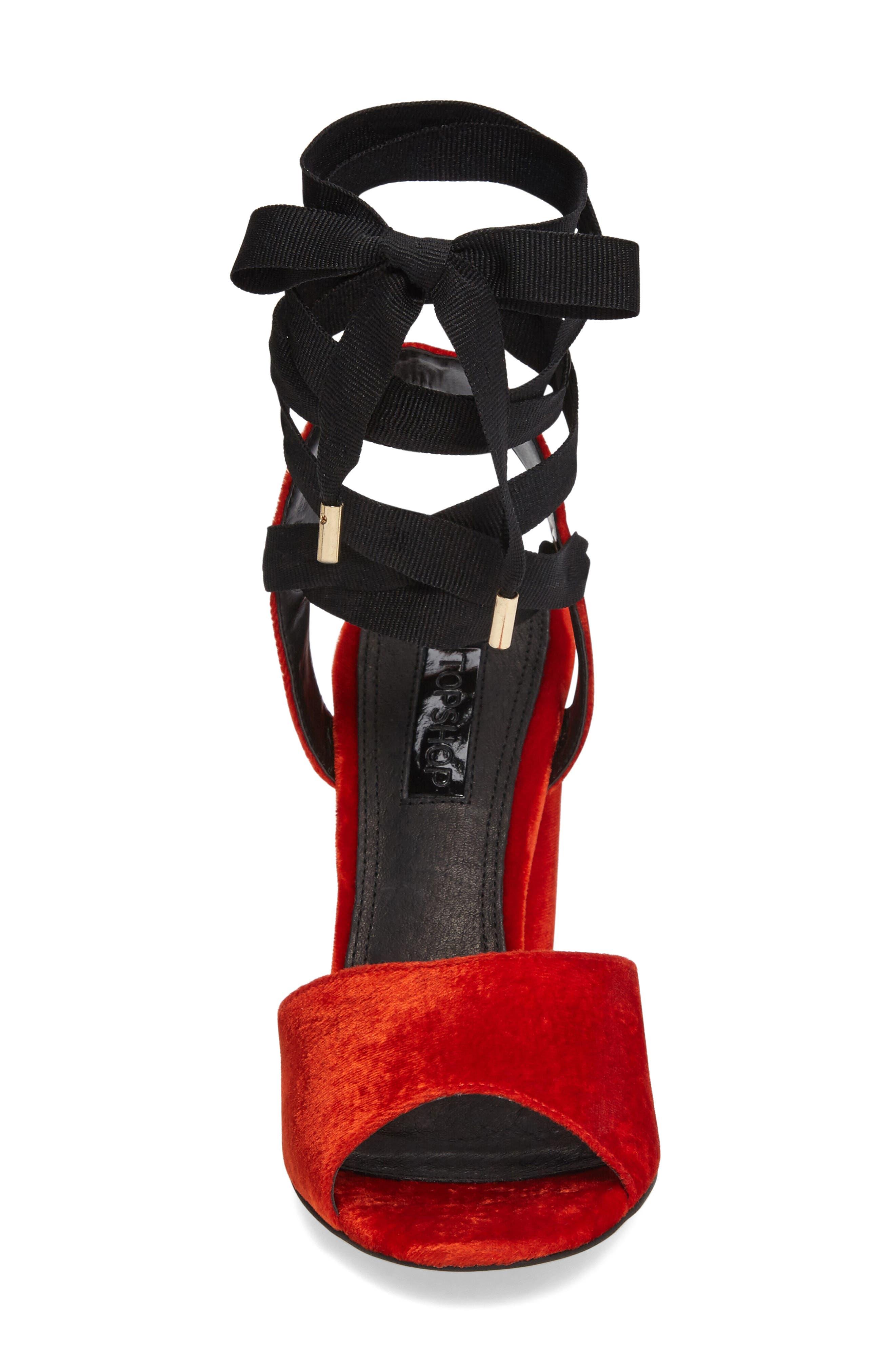 Royal Glitter Lace-Up Sandals,                             Alternate thumbnail 6, color,