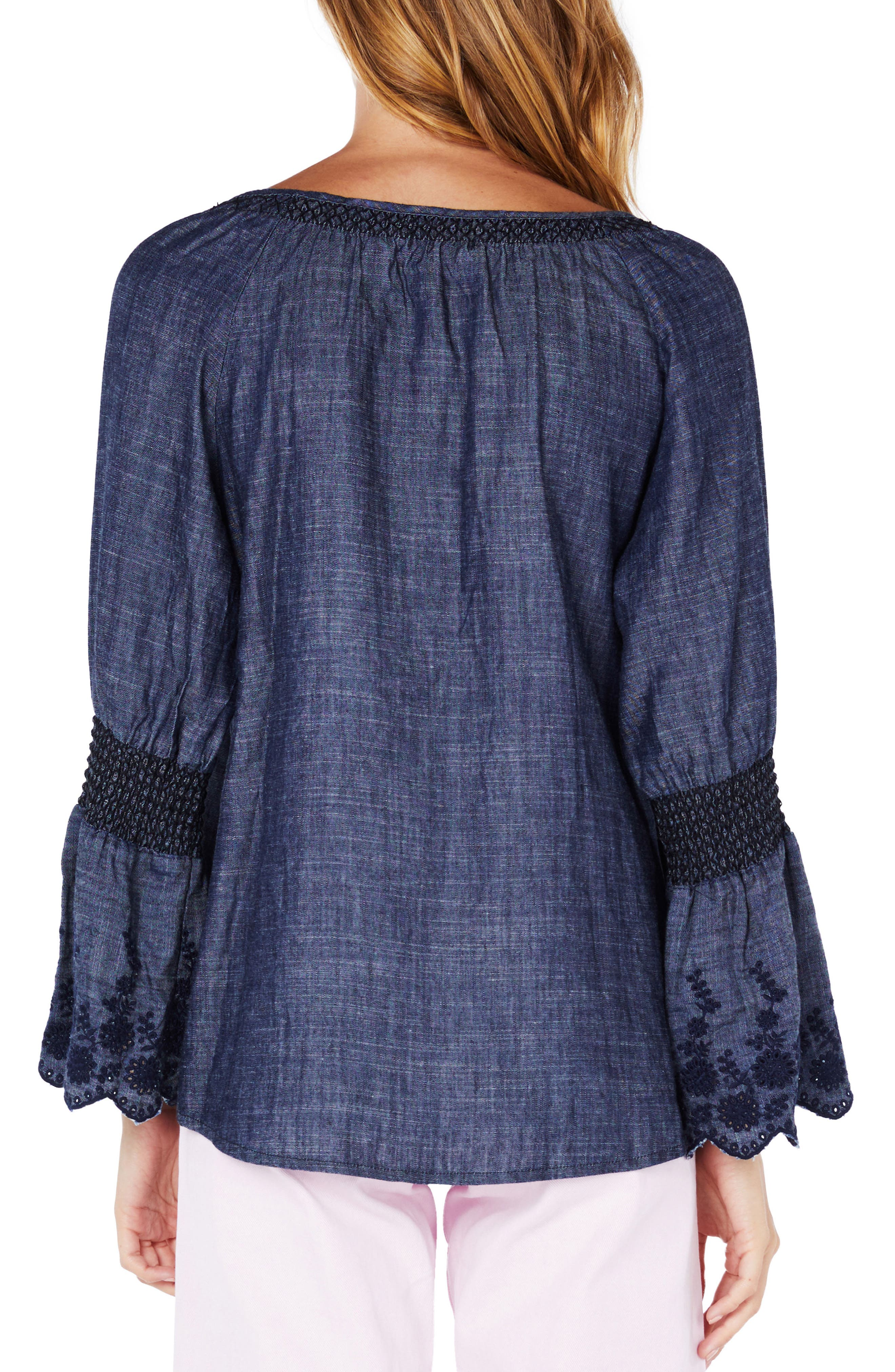 Frilled Sleeve Peasant Top,                             Alternate thumbnail 2, color,                             473
