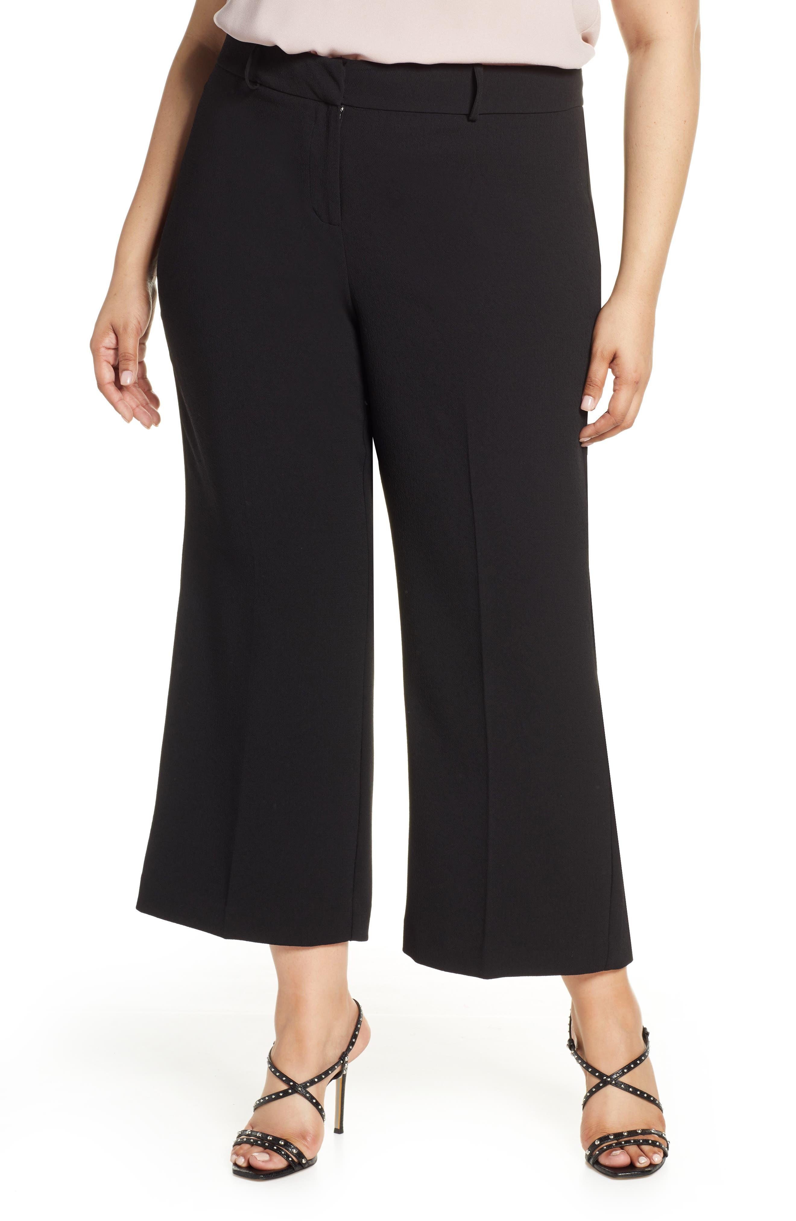 Plus Size 1.state Kick Flare Crop Pants, Black