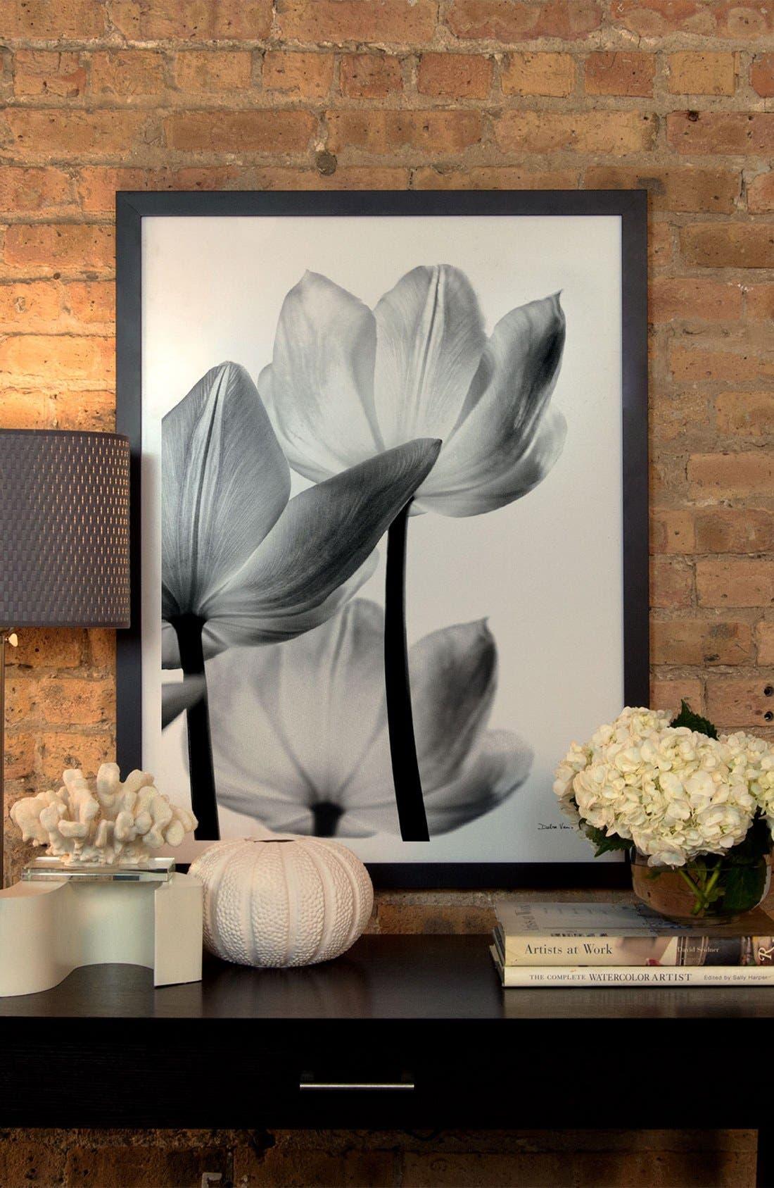 'Translucent Tulip' Giclée Print Framed Canvas Art,                             Alternate thumbnail 2, color,                             GREY