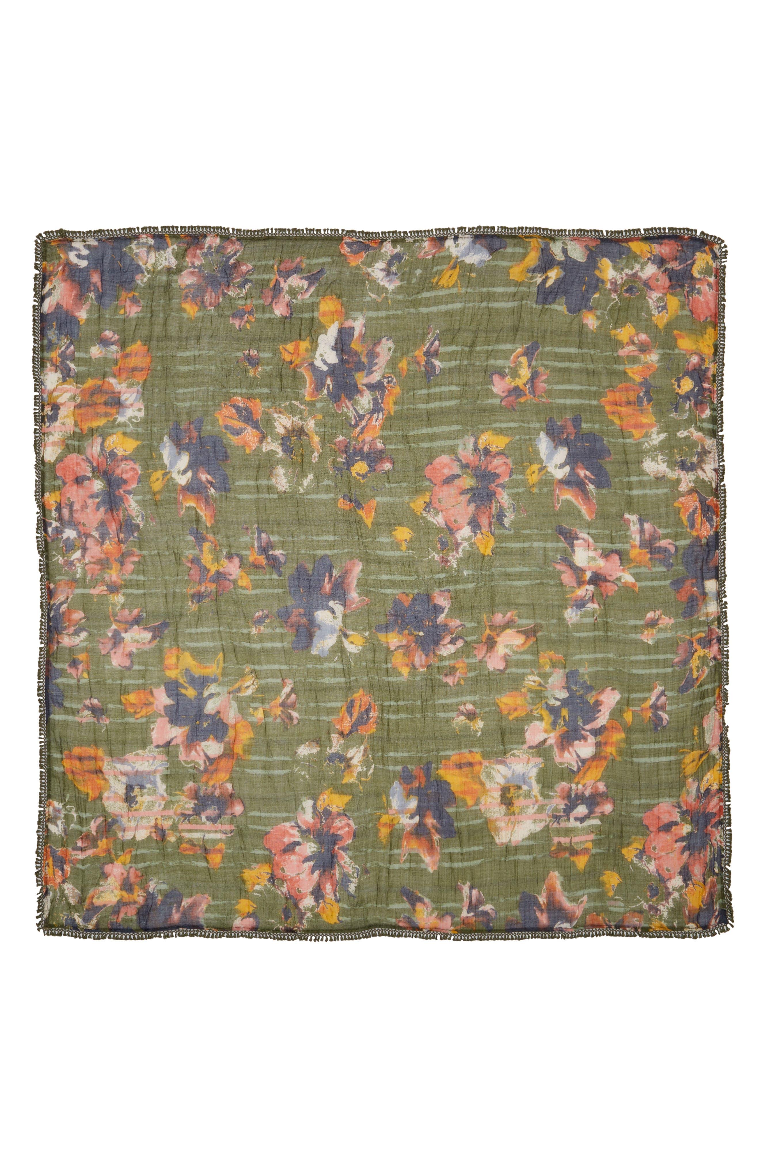 Floral Fringe Scarf,                             Alternate thumbnail 13, color,