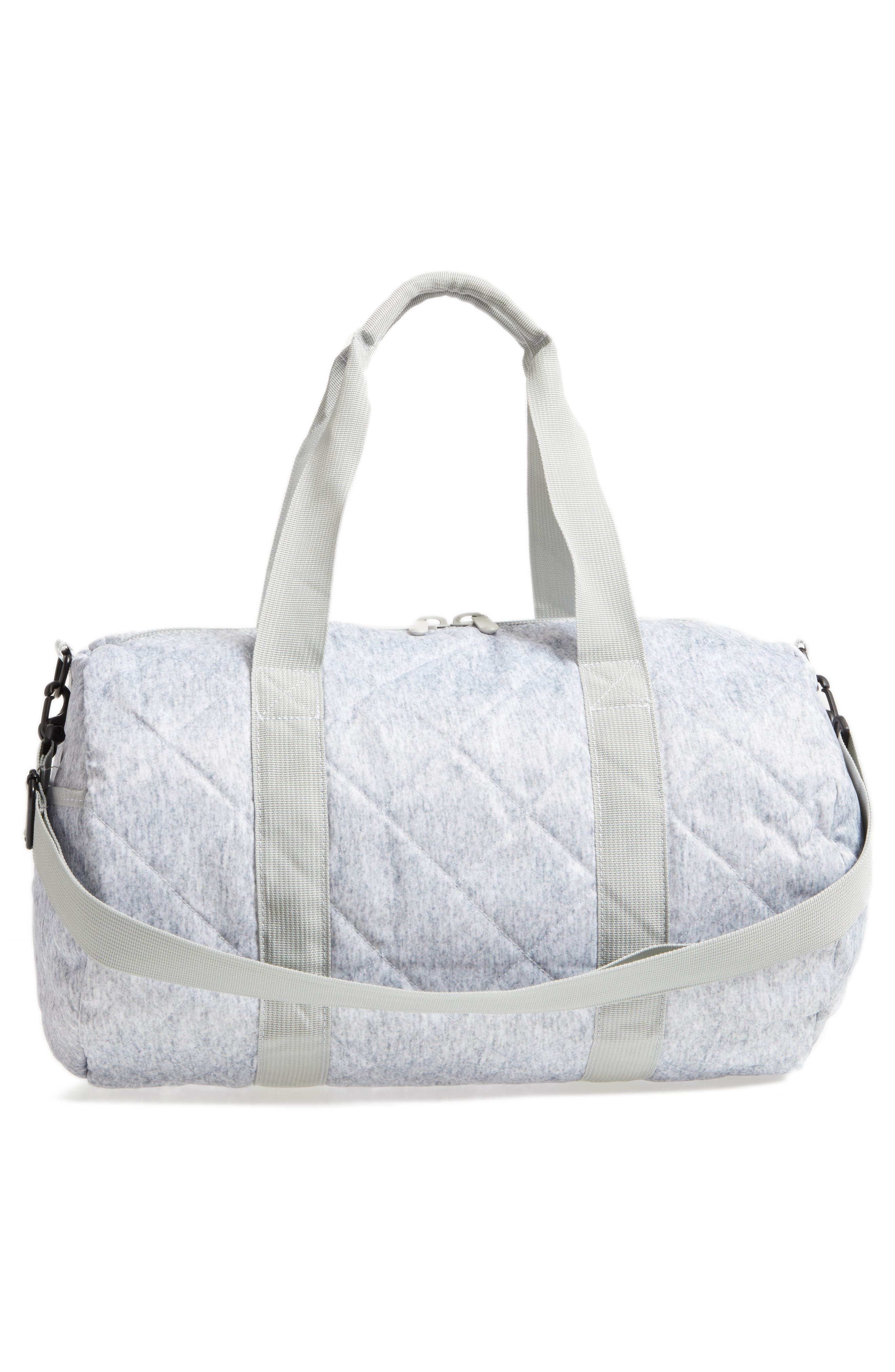 Roadie Small Duffel Bag,                             Alternate thumbnail 3, color,                             QUILTED GRAY NYLON
