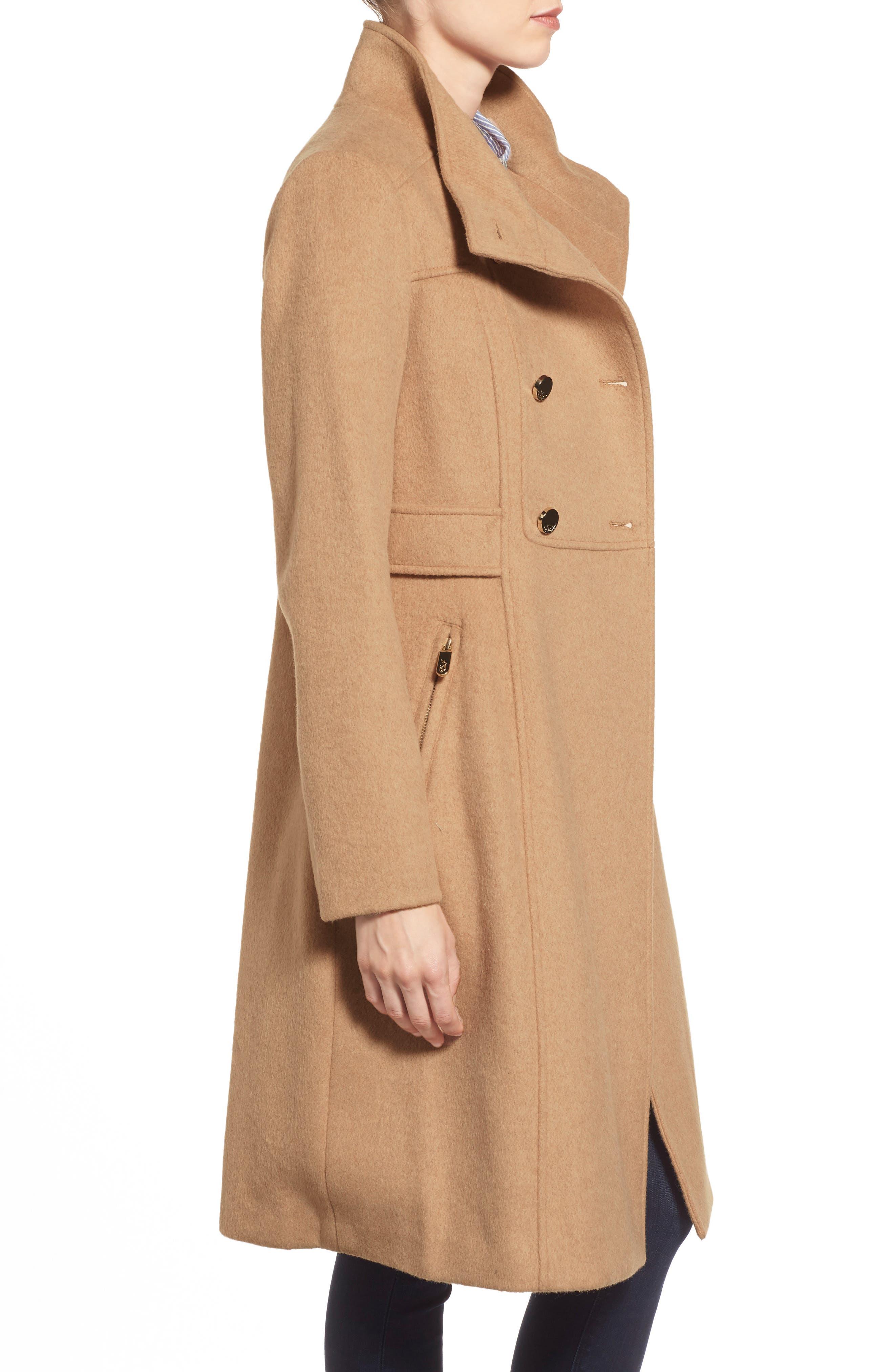 Wool Blend Long Military Coat,                             Alternate thumbnail 18, color,