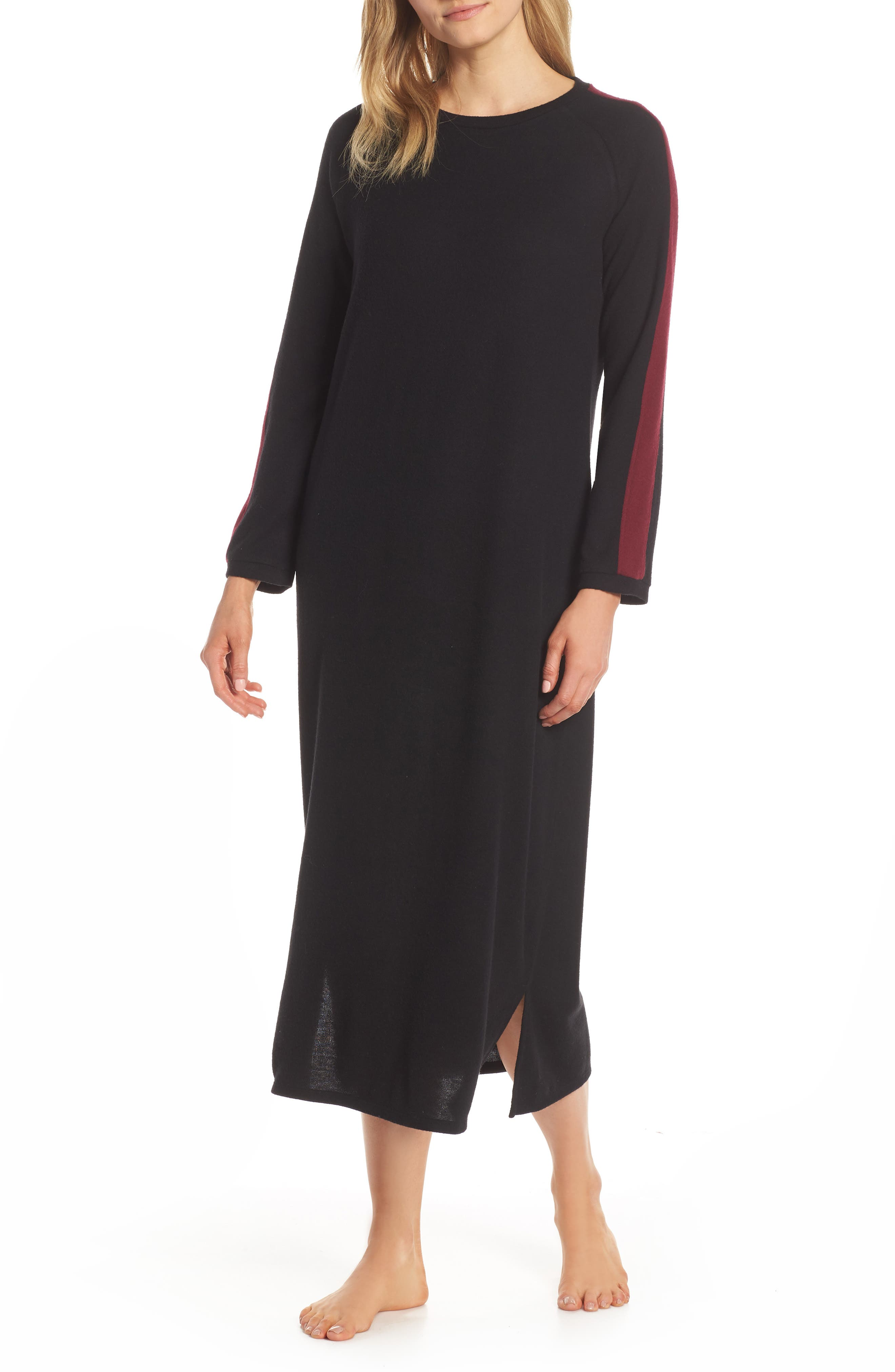 Naked Maxi Nightgown, Black