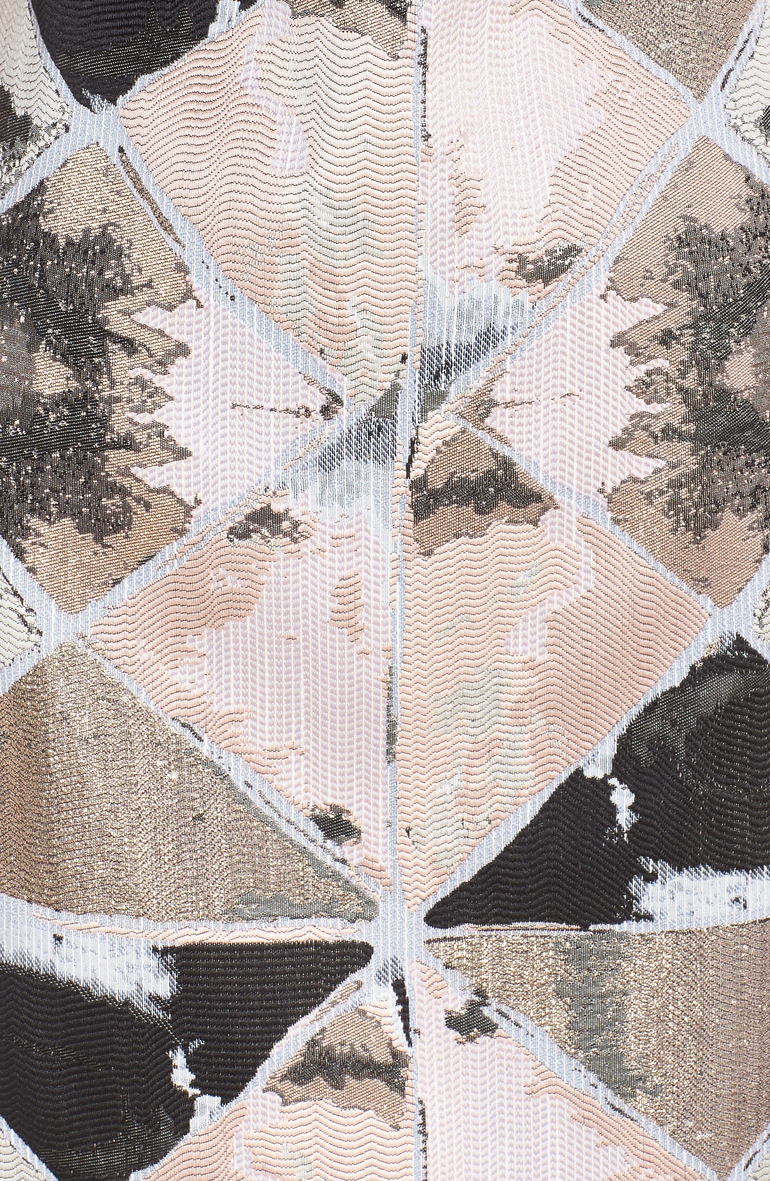 Jacquard Sheath Dress,                             Alternate thumbnail 6, color,                             BLUSH