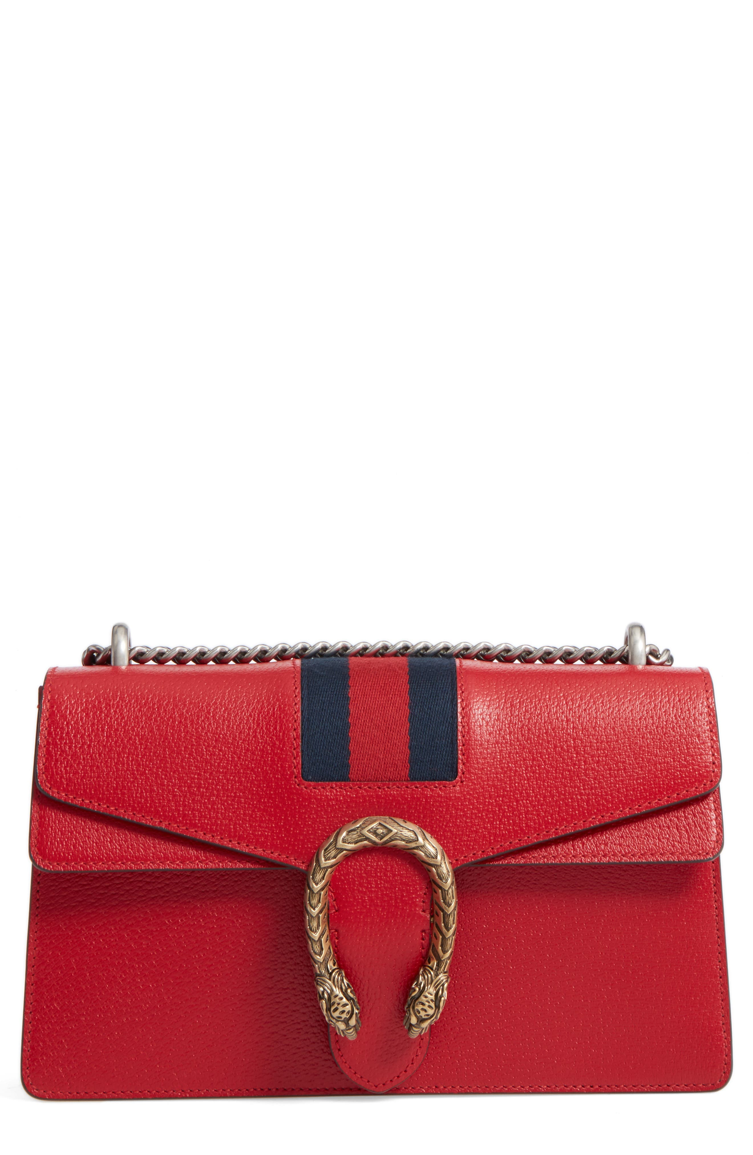 Dionysus Leather Shoulder Bag,                         Main,                         color, 625