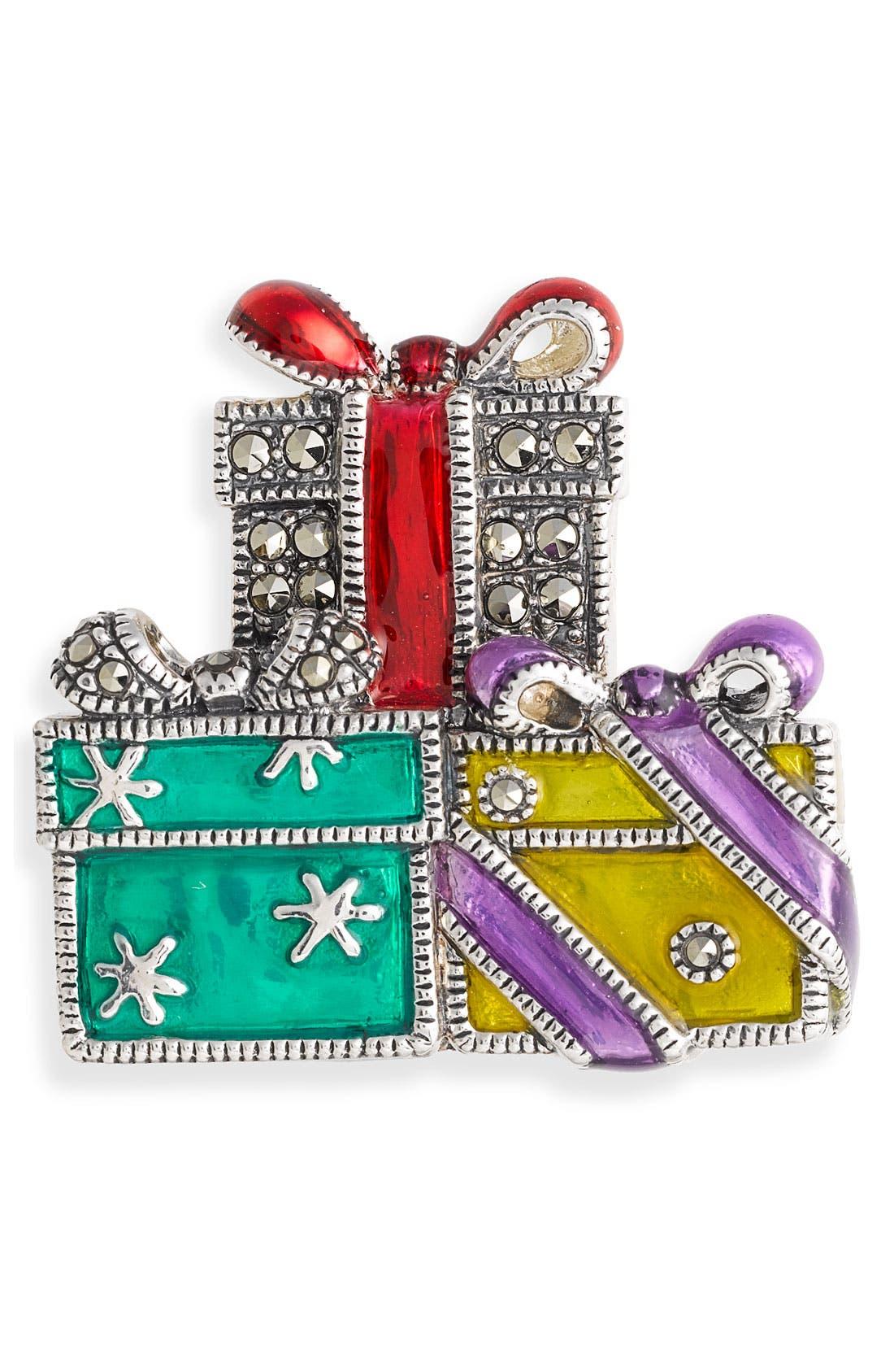 Holiday Gifts Pin, Main, color, 040