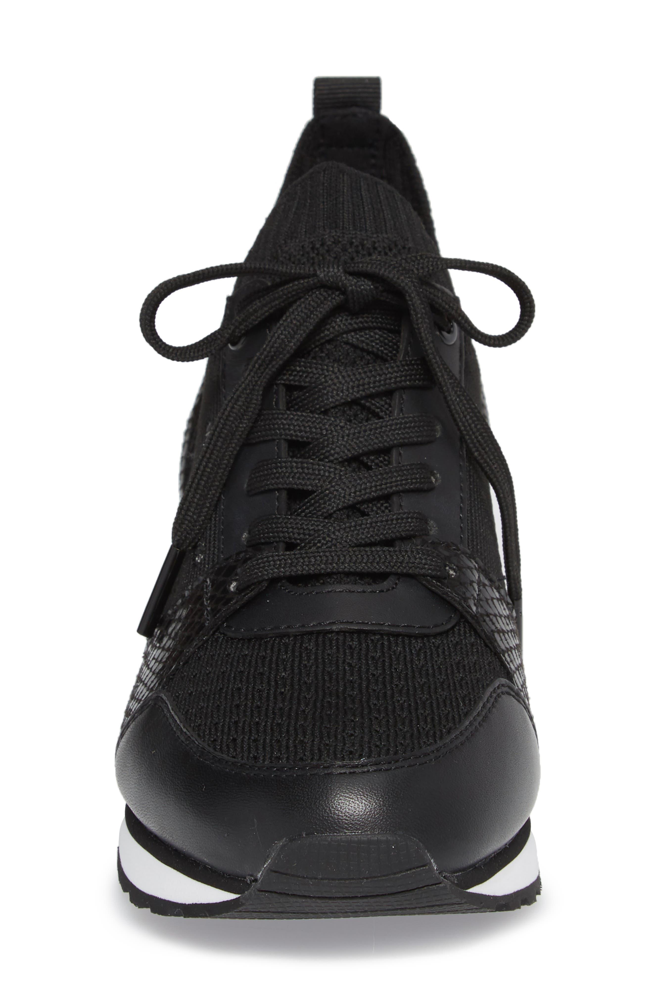 Billie Perforated Sneaker,                             Alternate thumbnail 4, color,                             002