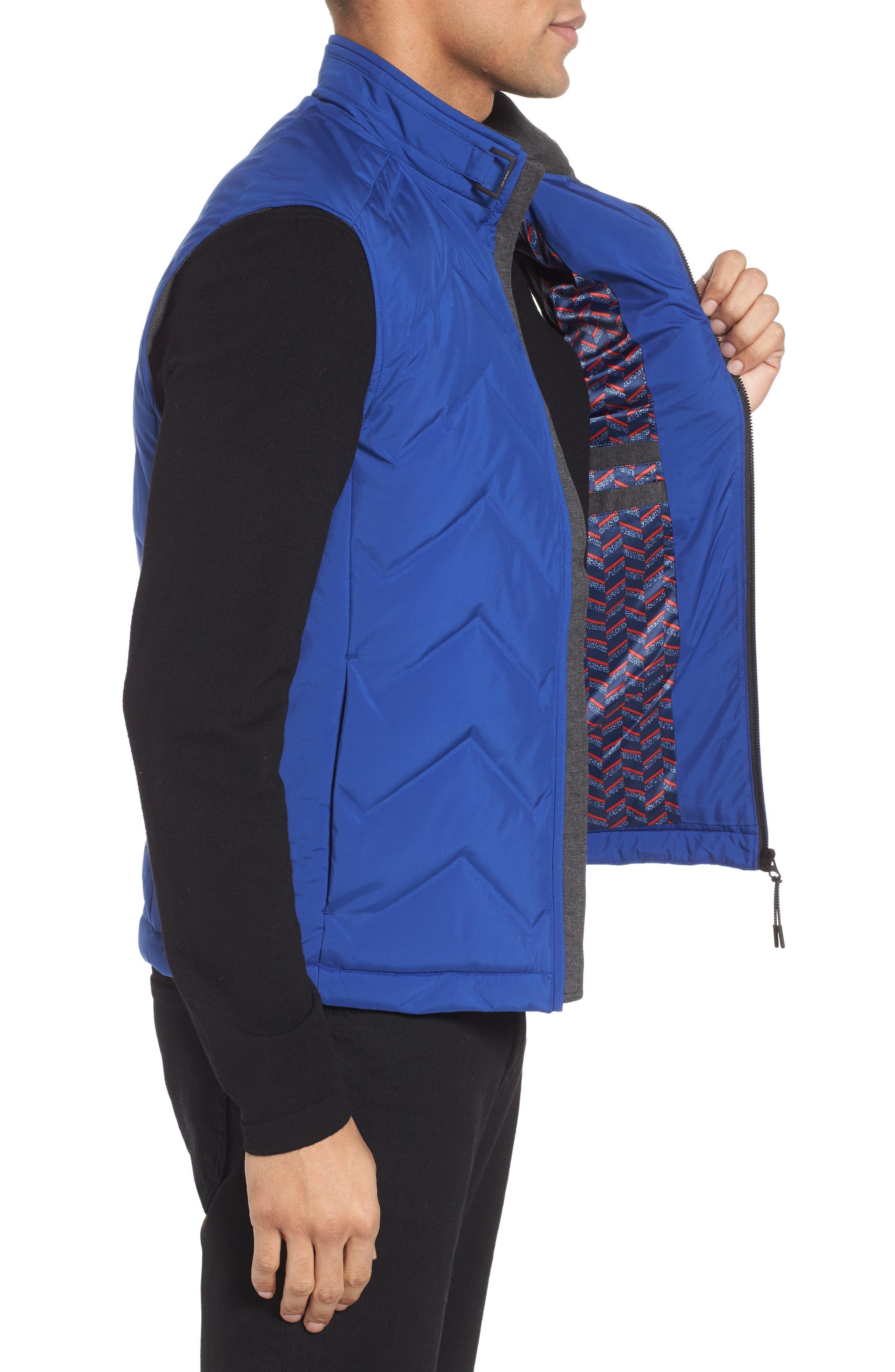 Hobart Down Vest,                             Alternate thumbnail 3, color,                             BRIGHT BLUE