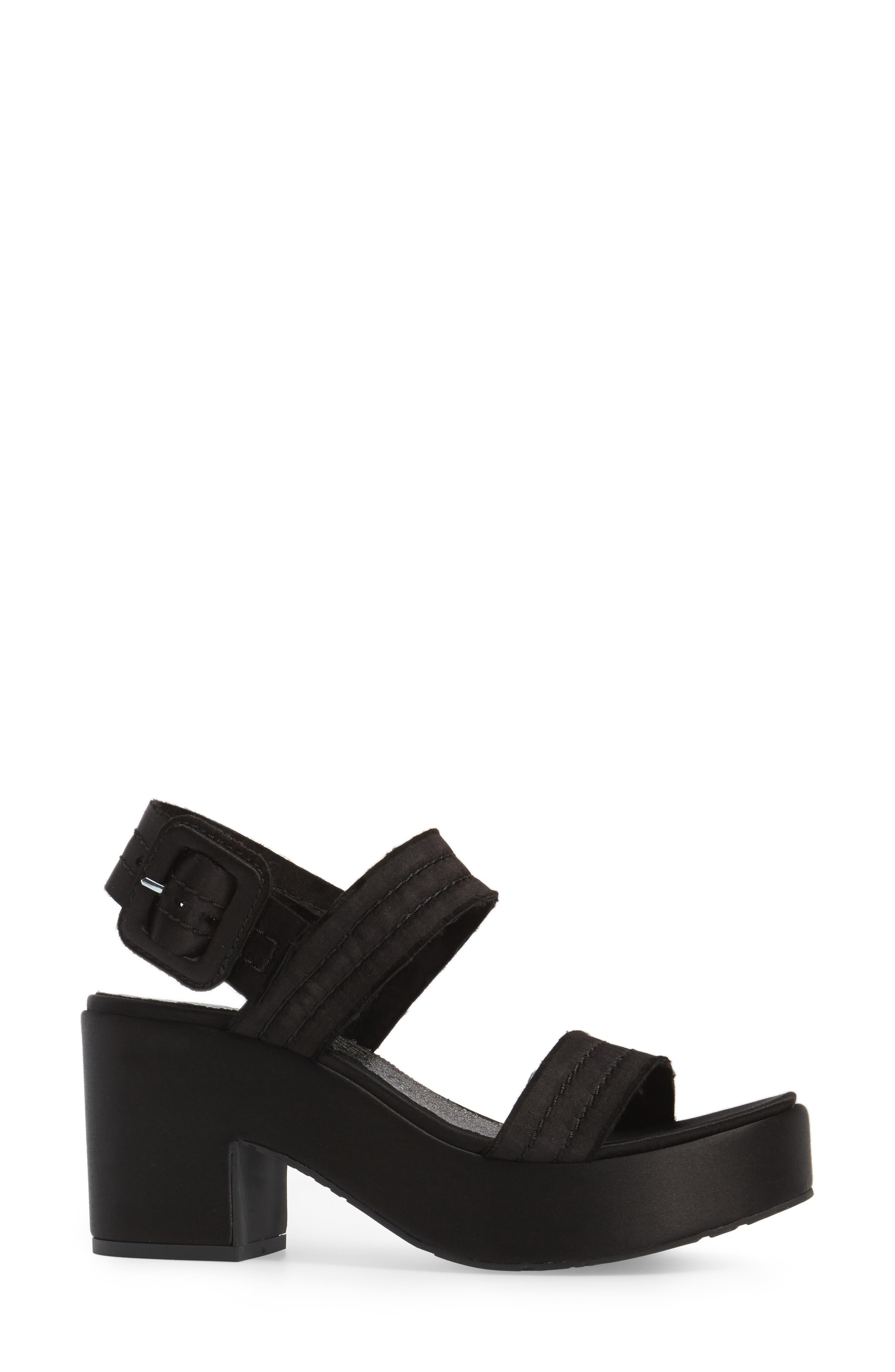 Decima Platform Sandal,                             Alternate thumbnail 3, color,                             001