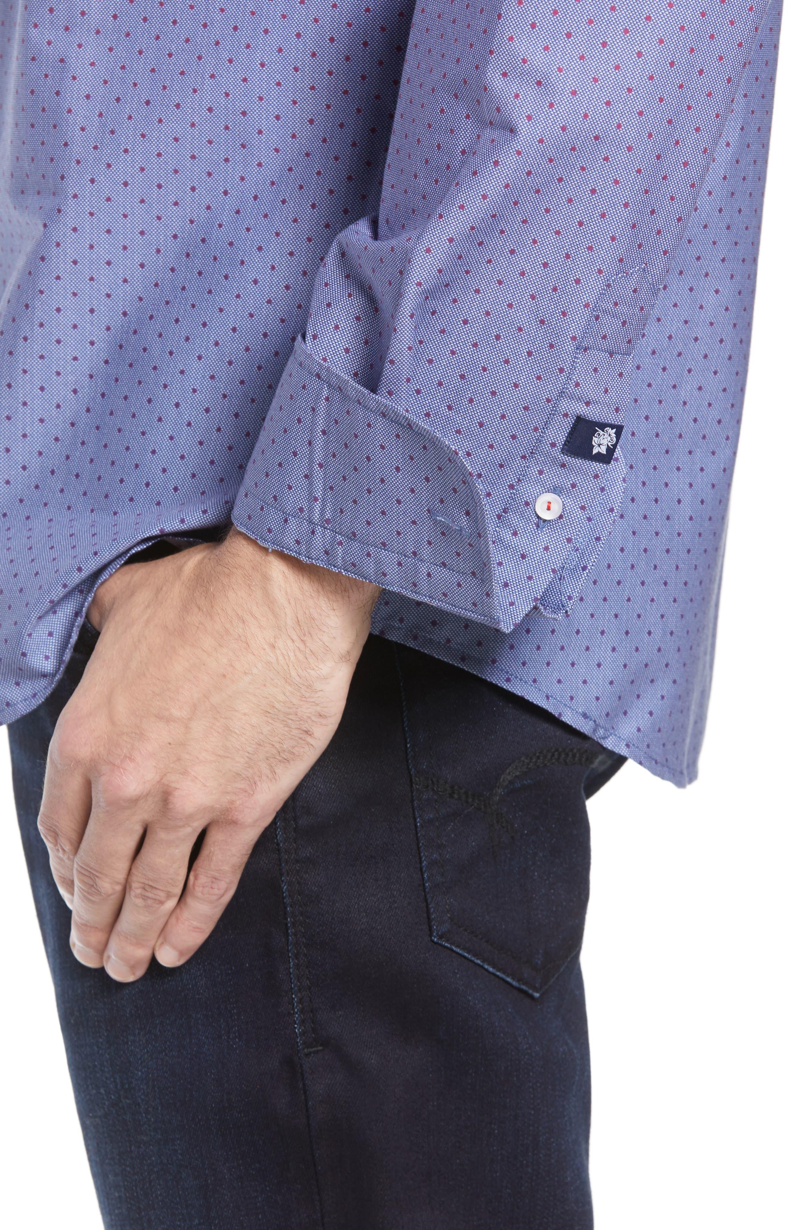 STONE ROSE,                             Gradient Dot Regular Fit Sport Shirt,                             Alternate thumbnail 2, color,                             400