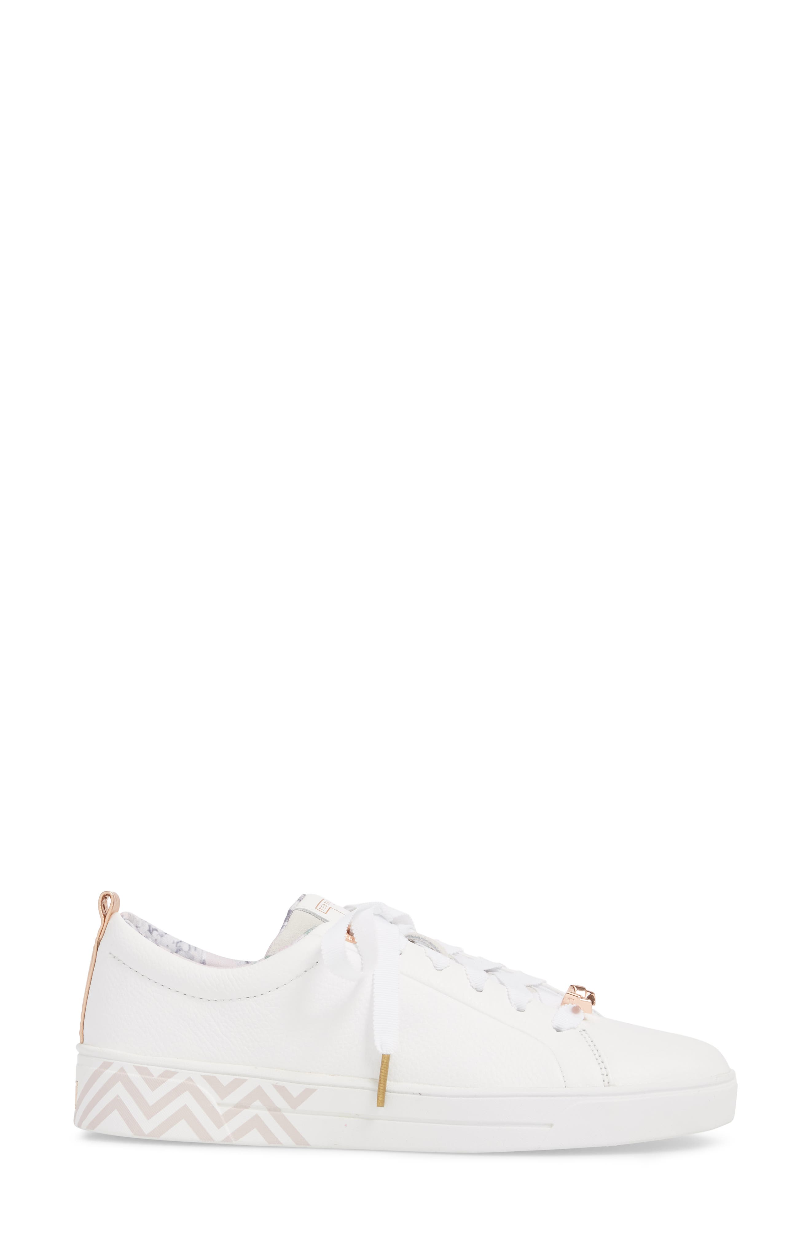 Kelleip Sneaker,                             Alternate thumbnail 3, color,                             PALACE GARDENS PRINT LEATHER
