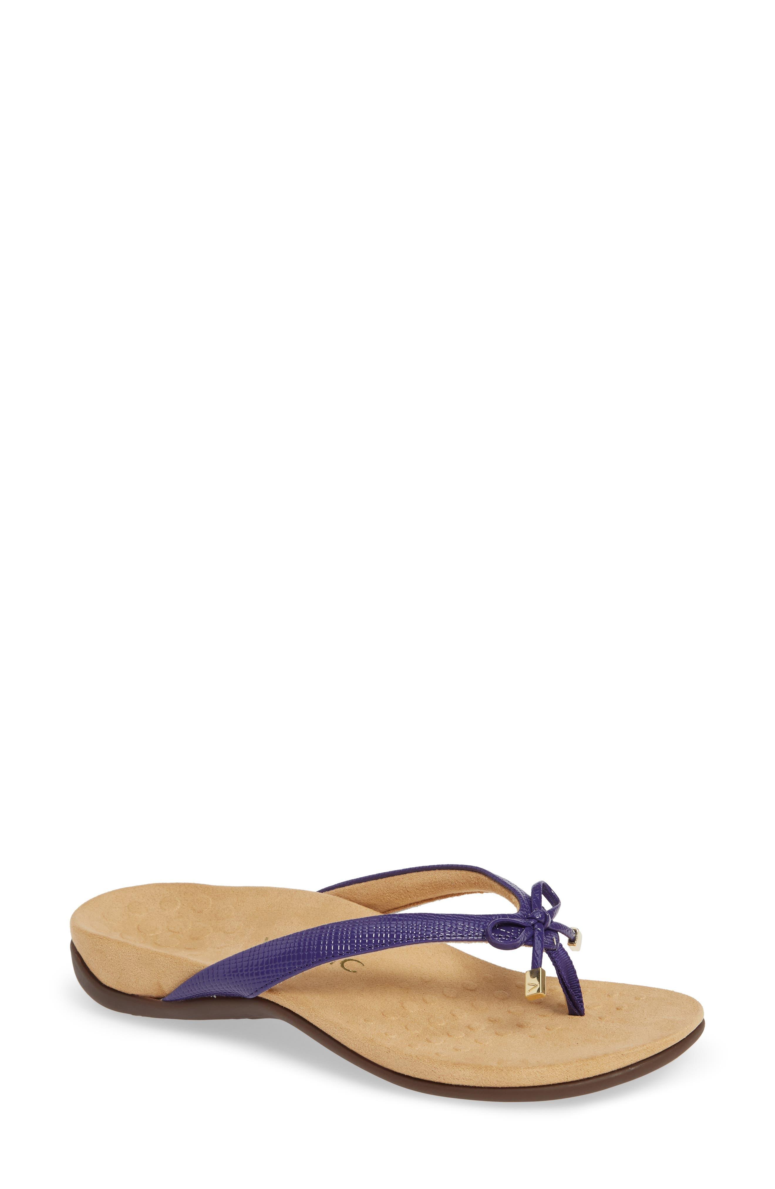 Bella Flip Flop,                         Main,                         color, PURPLE FAUX LEATHER