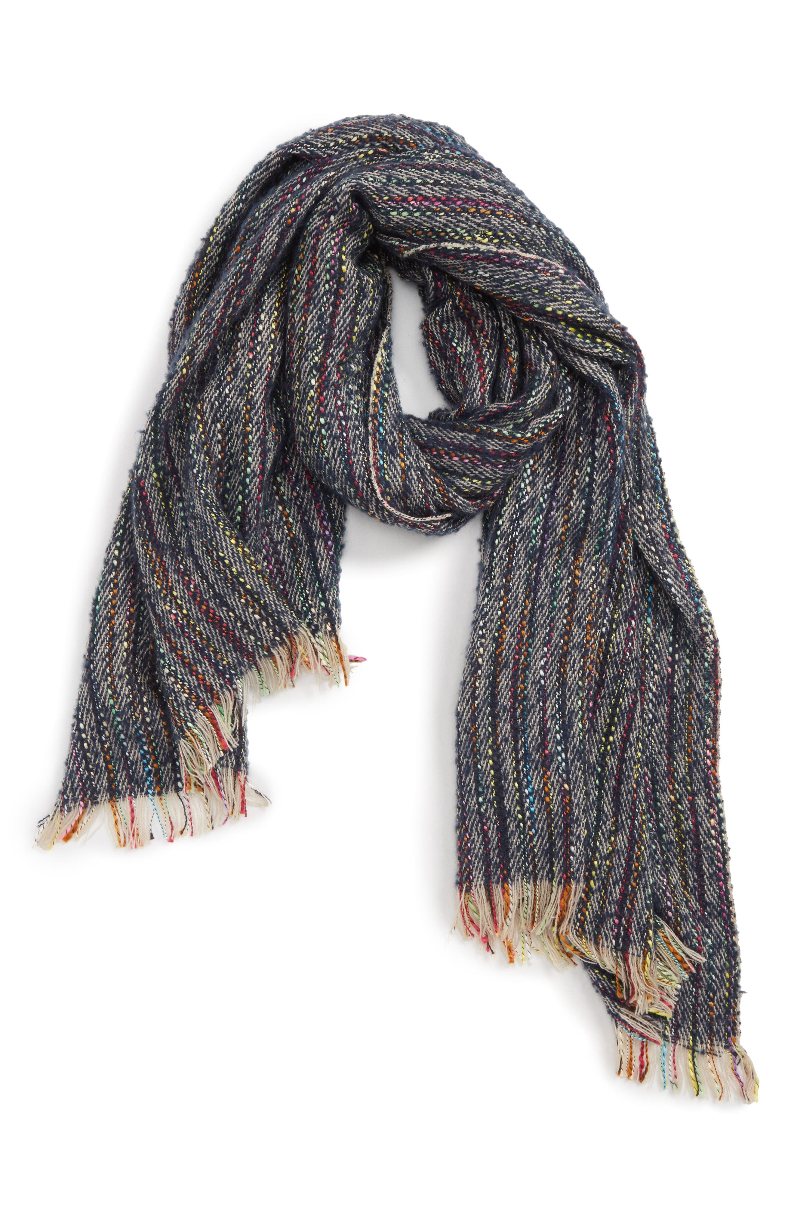 Speckled Knit Scarf,                             Main thumbnail 1, color,                             MULTI