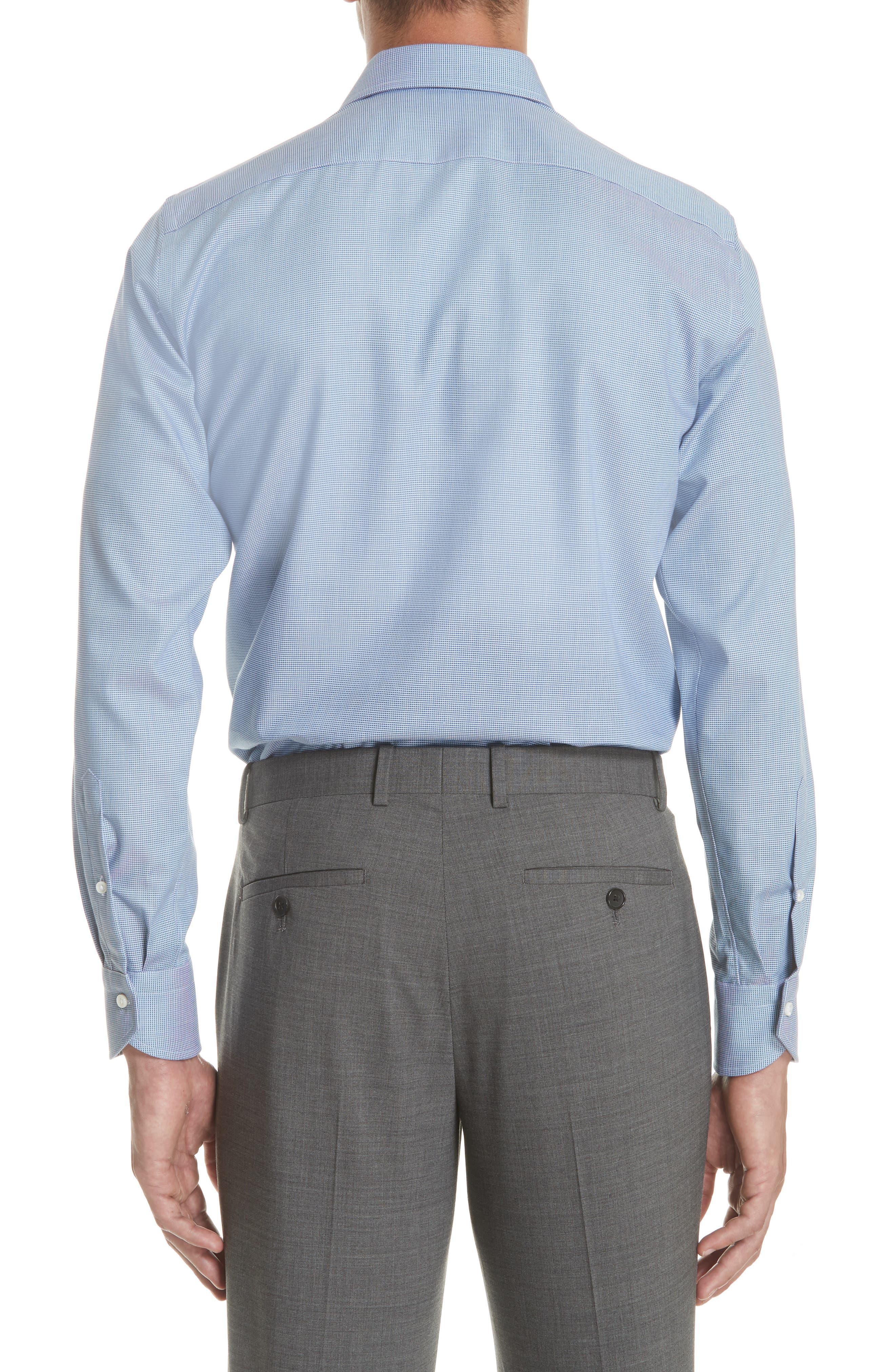 Regular Fit Solid Dress Shirt,                             Alternate thumbnail 3, color,                             401