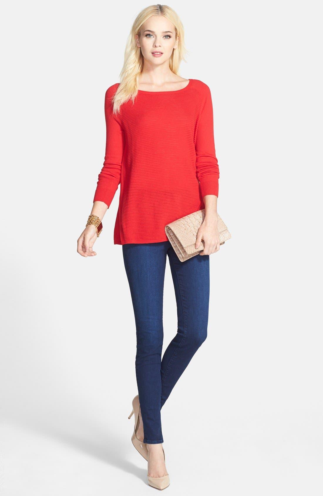 J BRAND,                             'Maria' High Rise Skinny Jeans,                             Alternate thumbnail 4, color,                             400