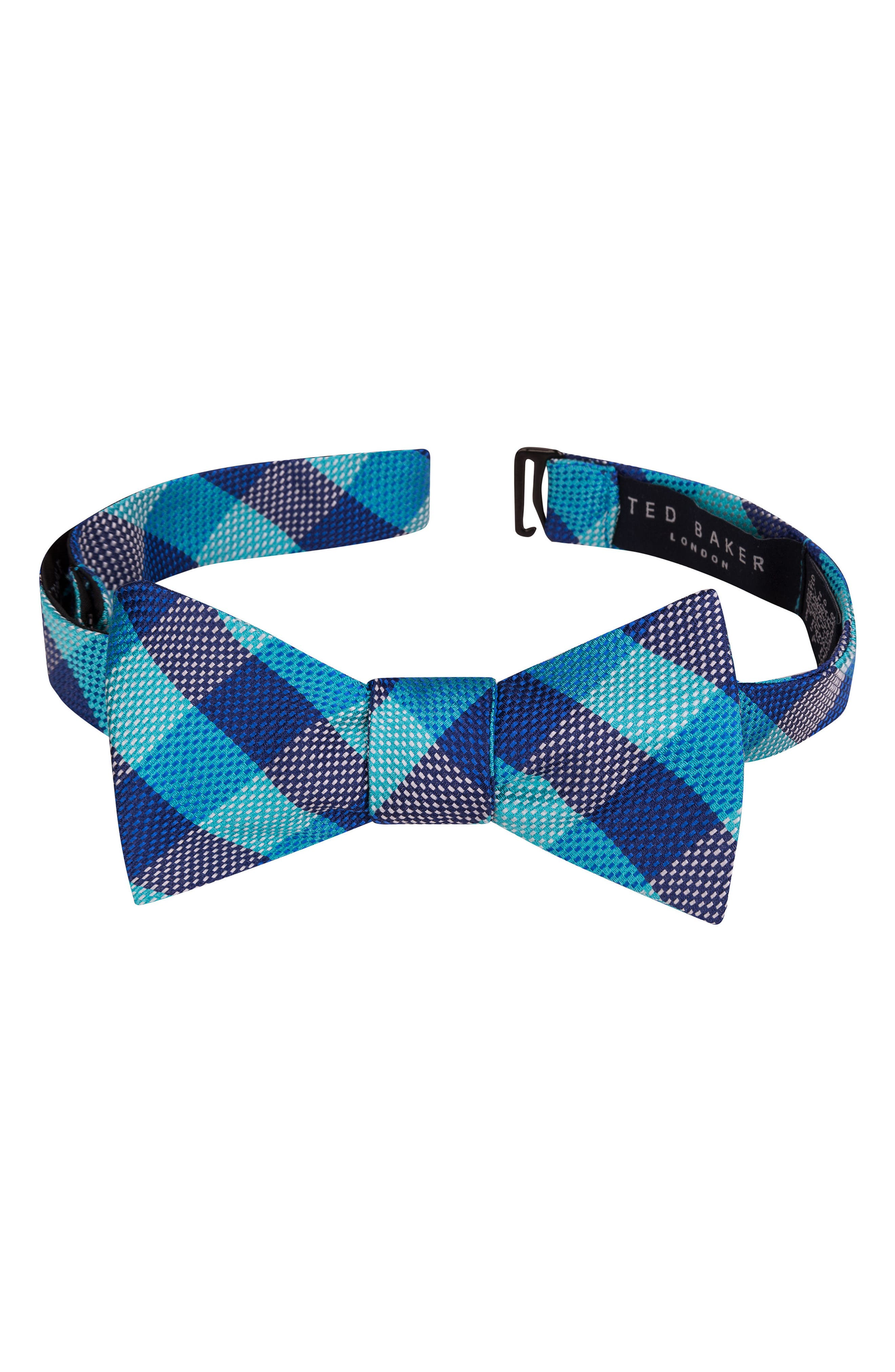 Derby Check Silk Bow Tie,                             Alternate thumbnail 17, color,