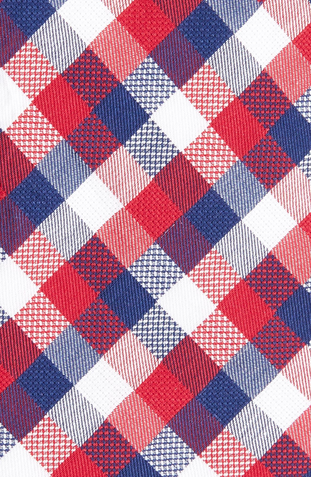 Scott Check Cotton Skinny Tie,                             Alternate thumbnail 9, color,