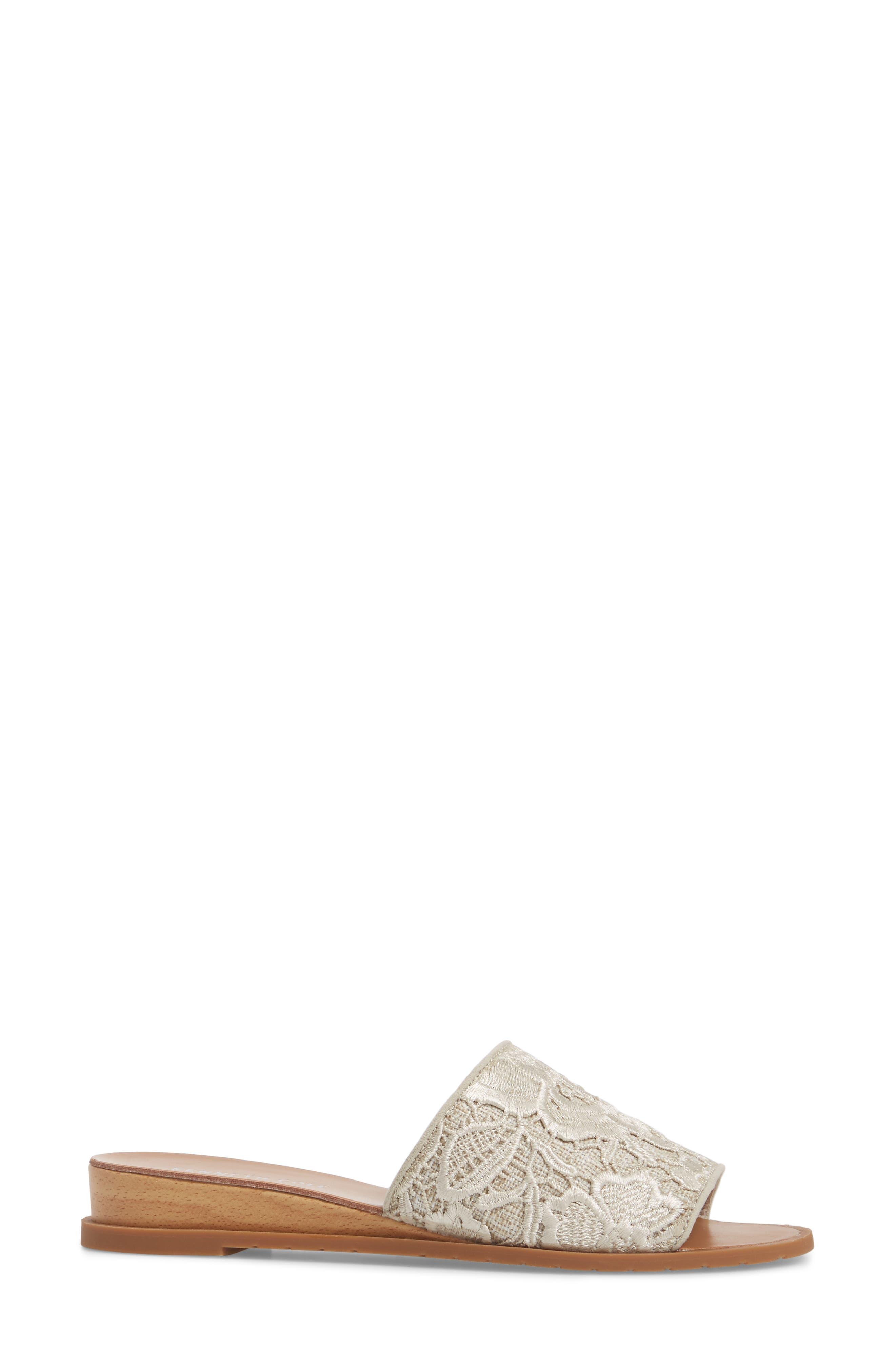 Joanne Flower Embroidered Slide Sandal,                             Alternate thumbnail 16, color,